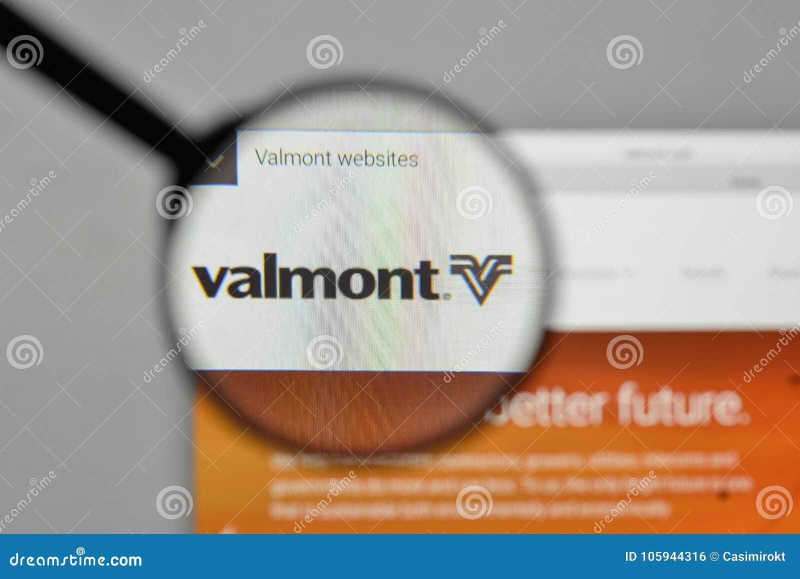 Milaan, Italië - November 1, 2017: Valmont Industries-embleem op