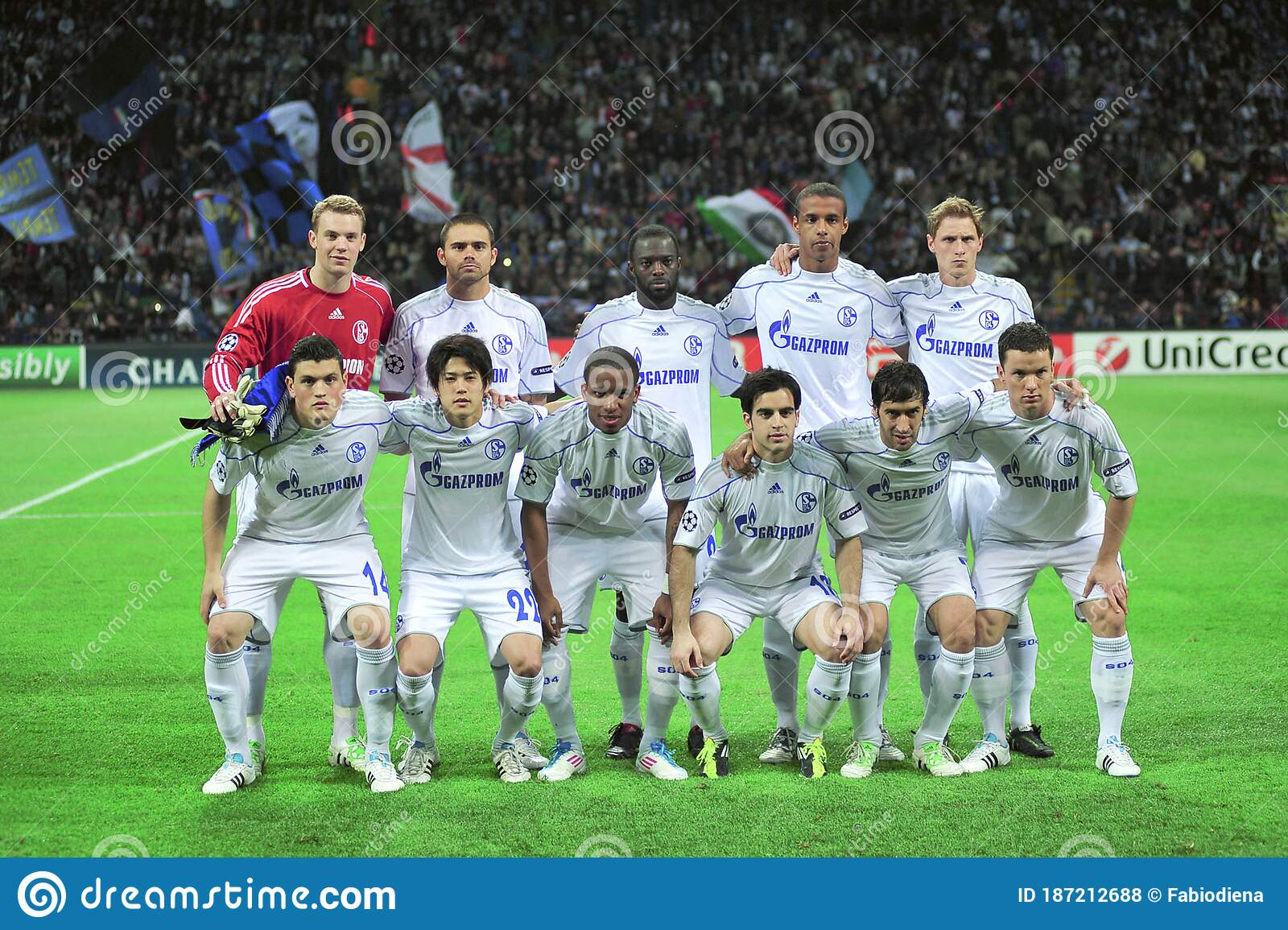 The Players Of The Schalke 04 Before The Match Editorial Stock ...