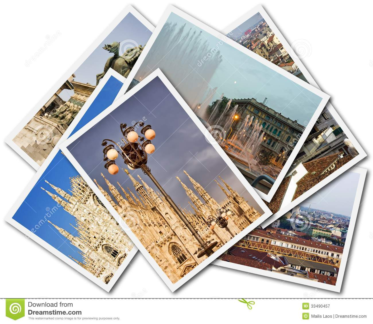 Download Milan Collage stock image. Image of artwork, cityscape - 33490457