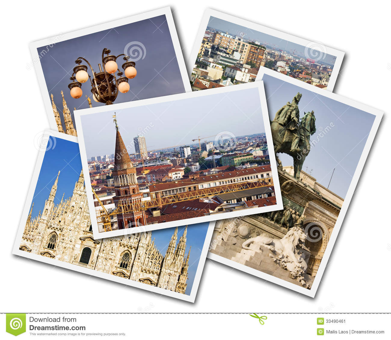 Download Milan Collage stock image. Image of photographs, ancient - 33490461