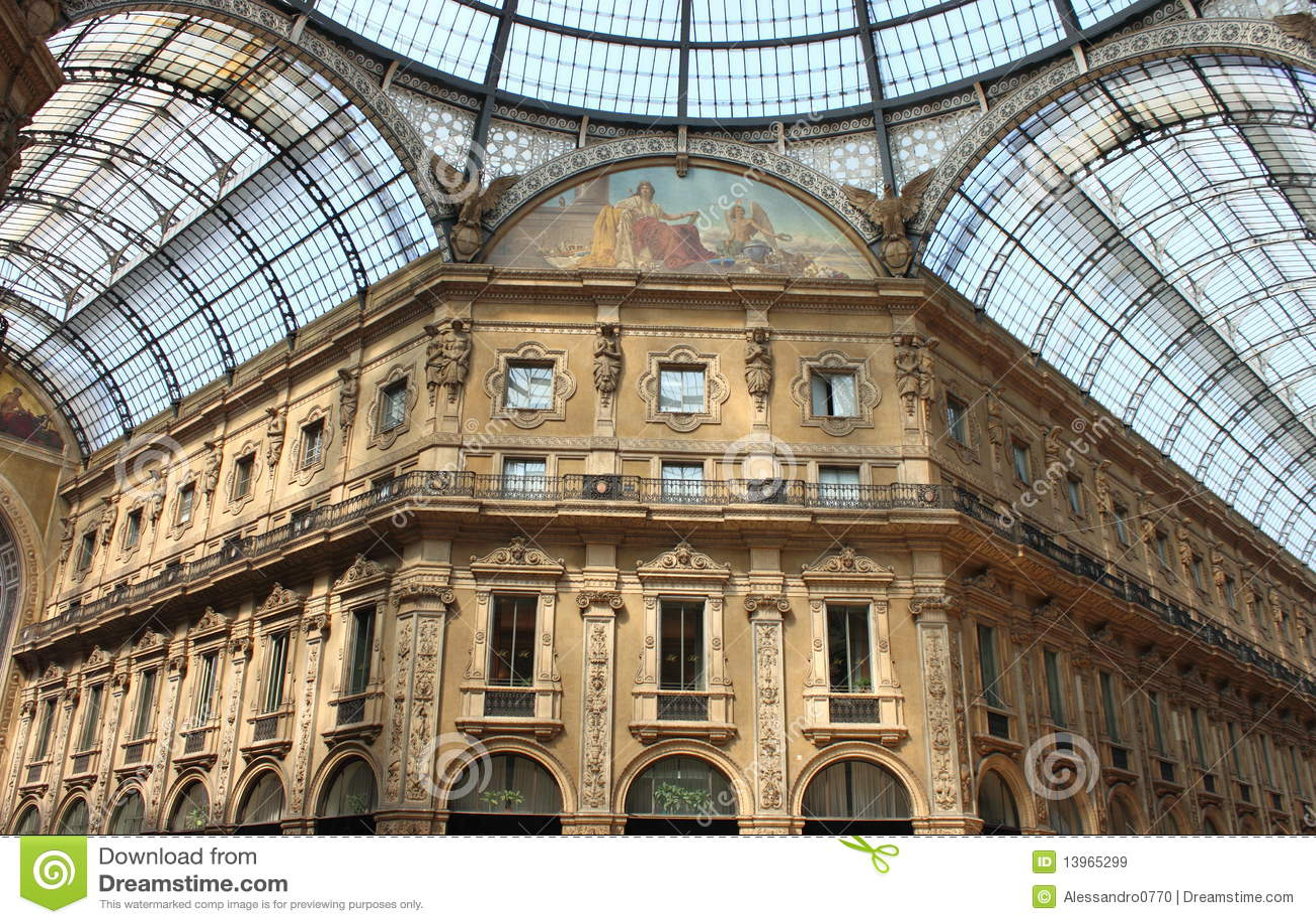 Milan Gallery Royalty Free Stock Images Image 13965299