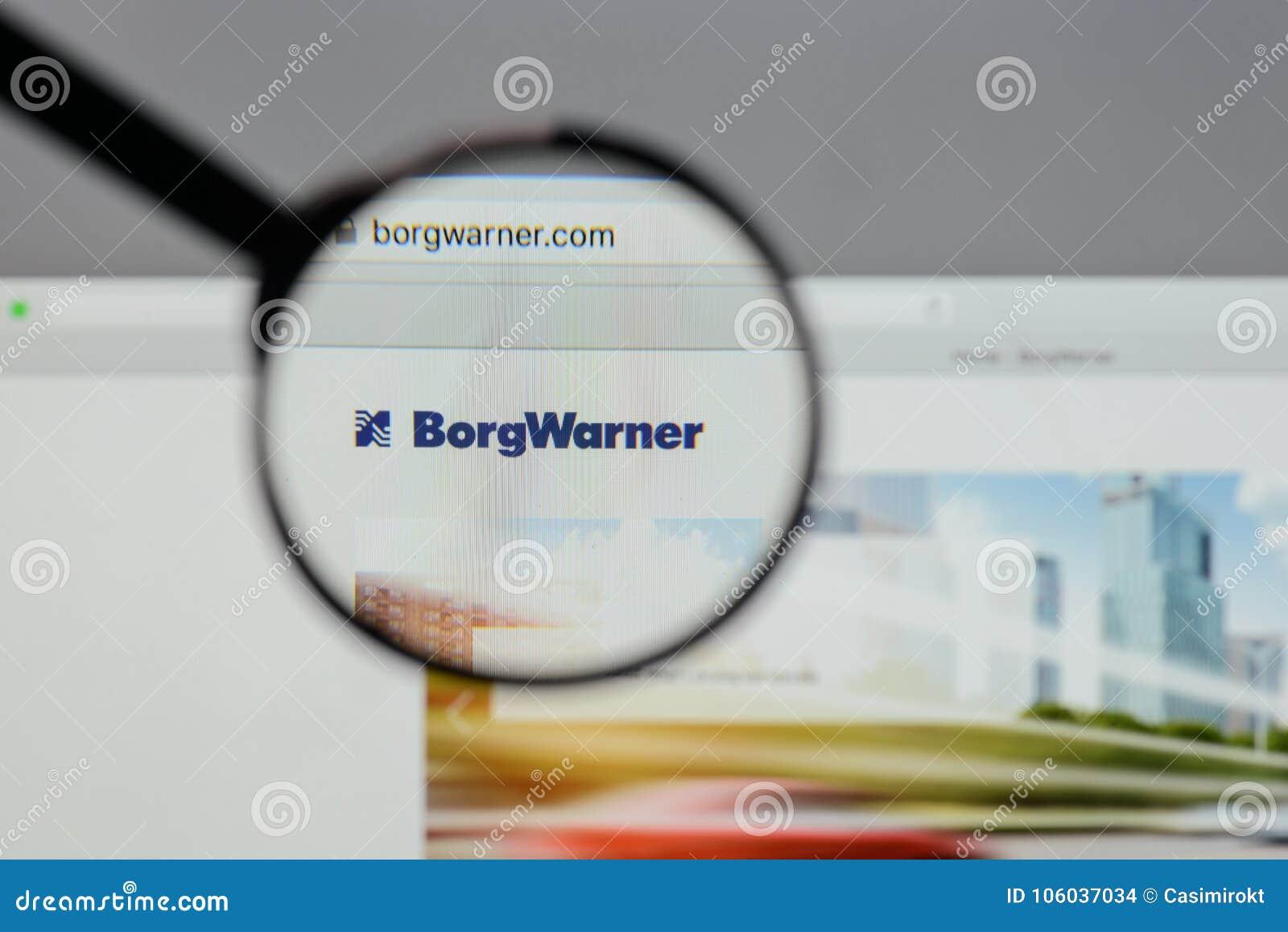 Milan, Italie - 10 août 2017 : Logo de Borg Warner sur le site Web