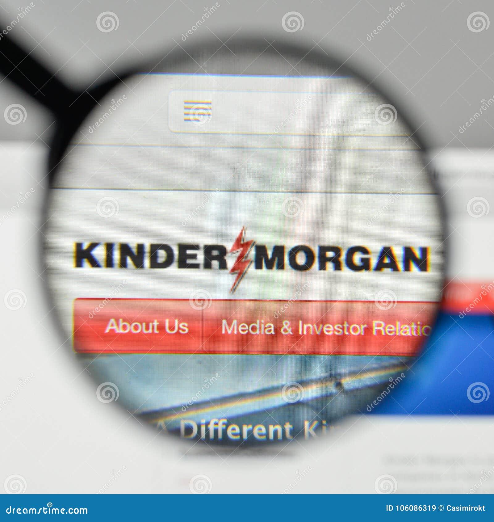 Milan, Italie - 1er novembre 2017 : Logo de Kinder Morgan sur le websi