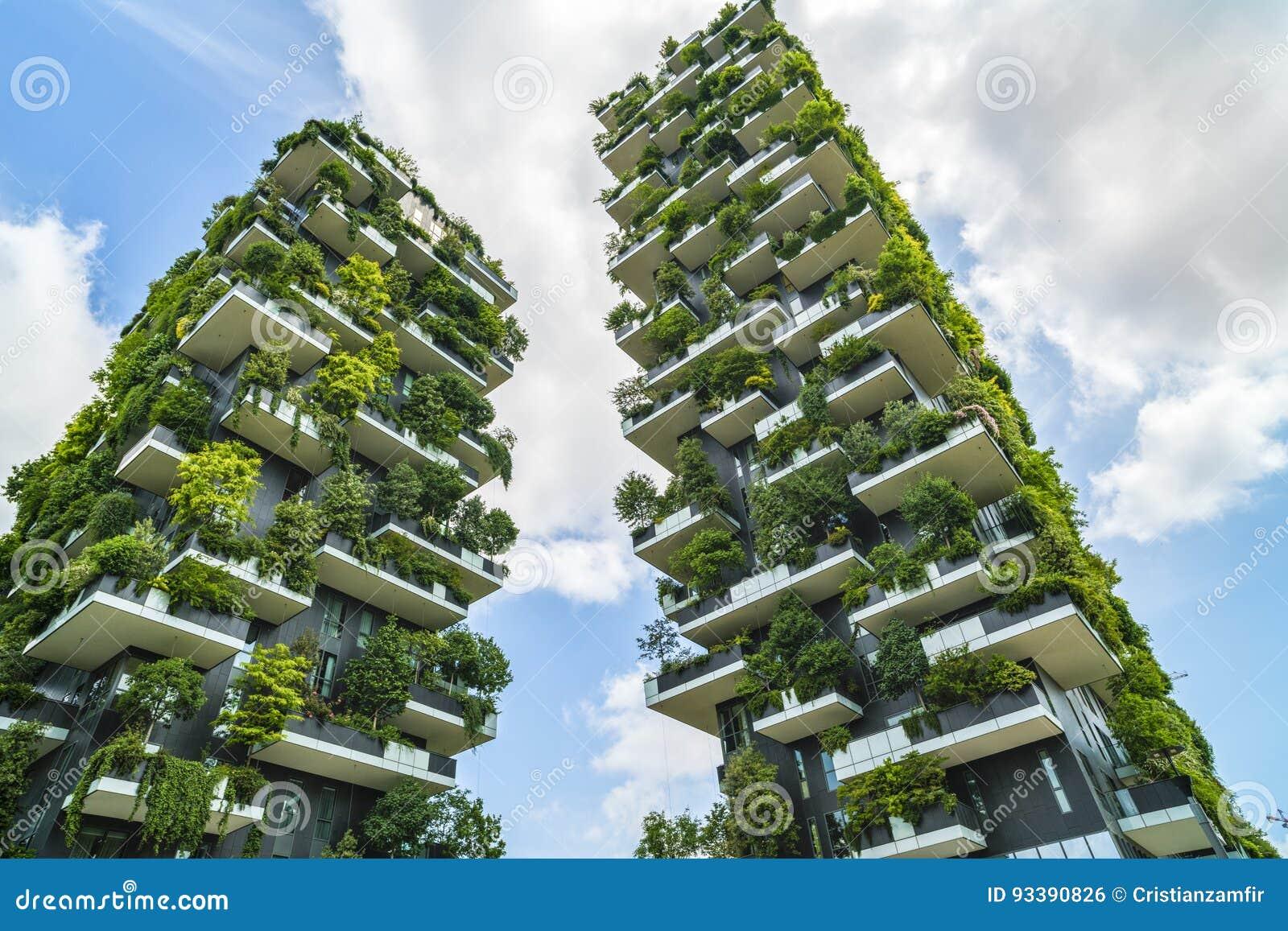 Foto Bosco Verticale Milano milan italien - maj 28, 2017: bosco verticale vertical