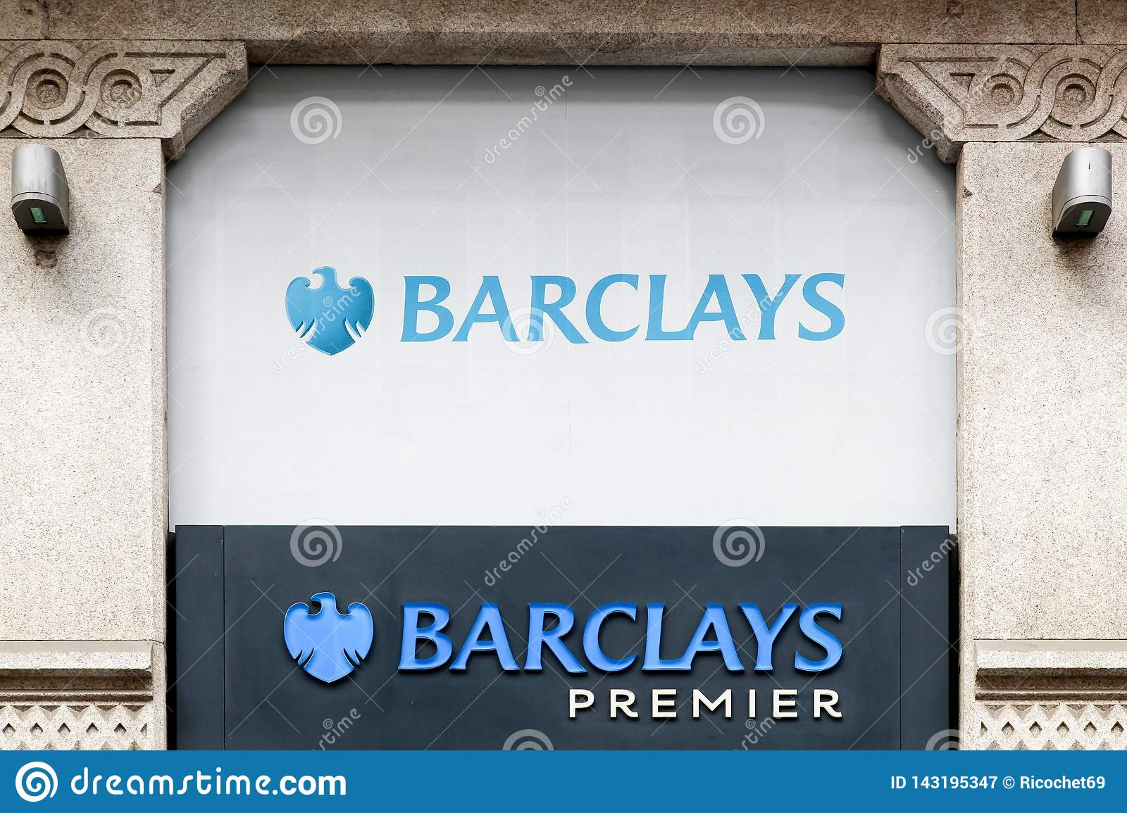 Barclays Bank Logo On A Wall Editorial Photography - Image