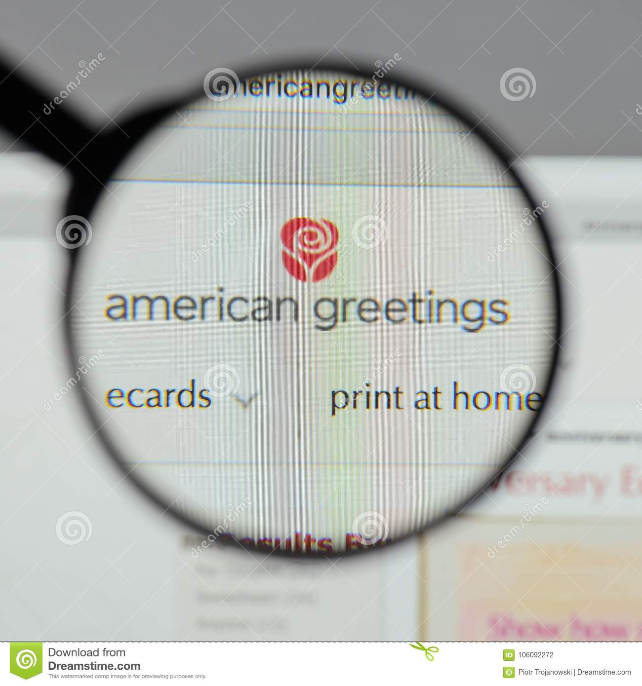 Milan italy august 10 2017 american greetings logo on the w download milan italy august 10 2017 american greetings logo on the w m4hsunfo