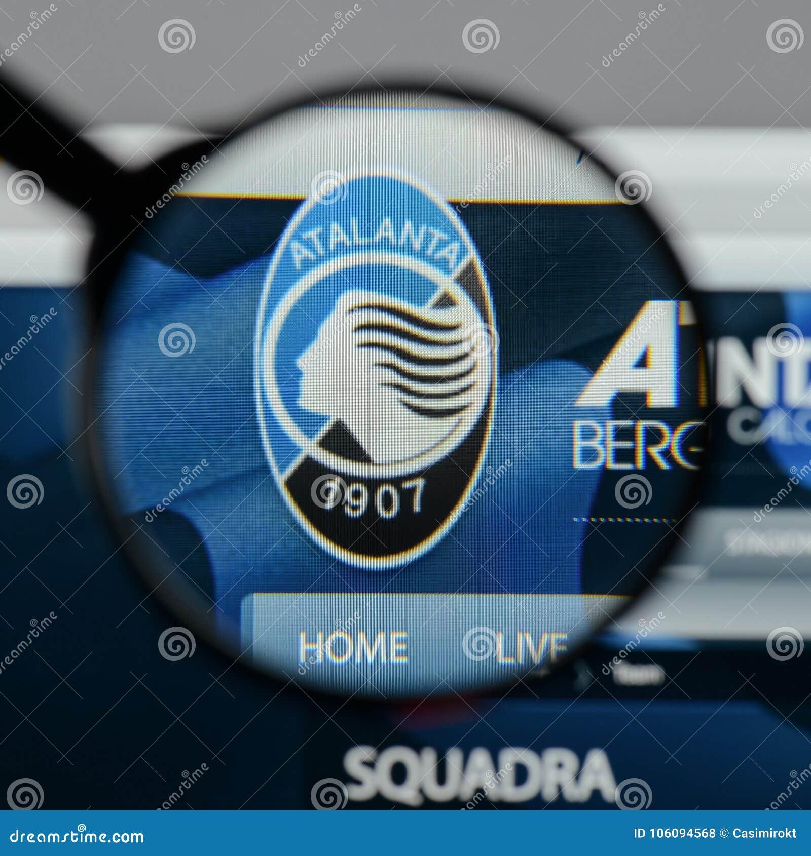 Milan, Italy - August 10, 2017: Atalanta BC Logo On The ...