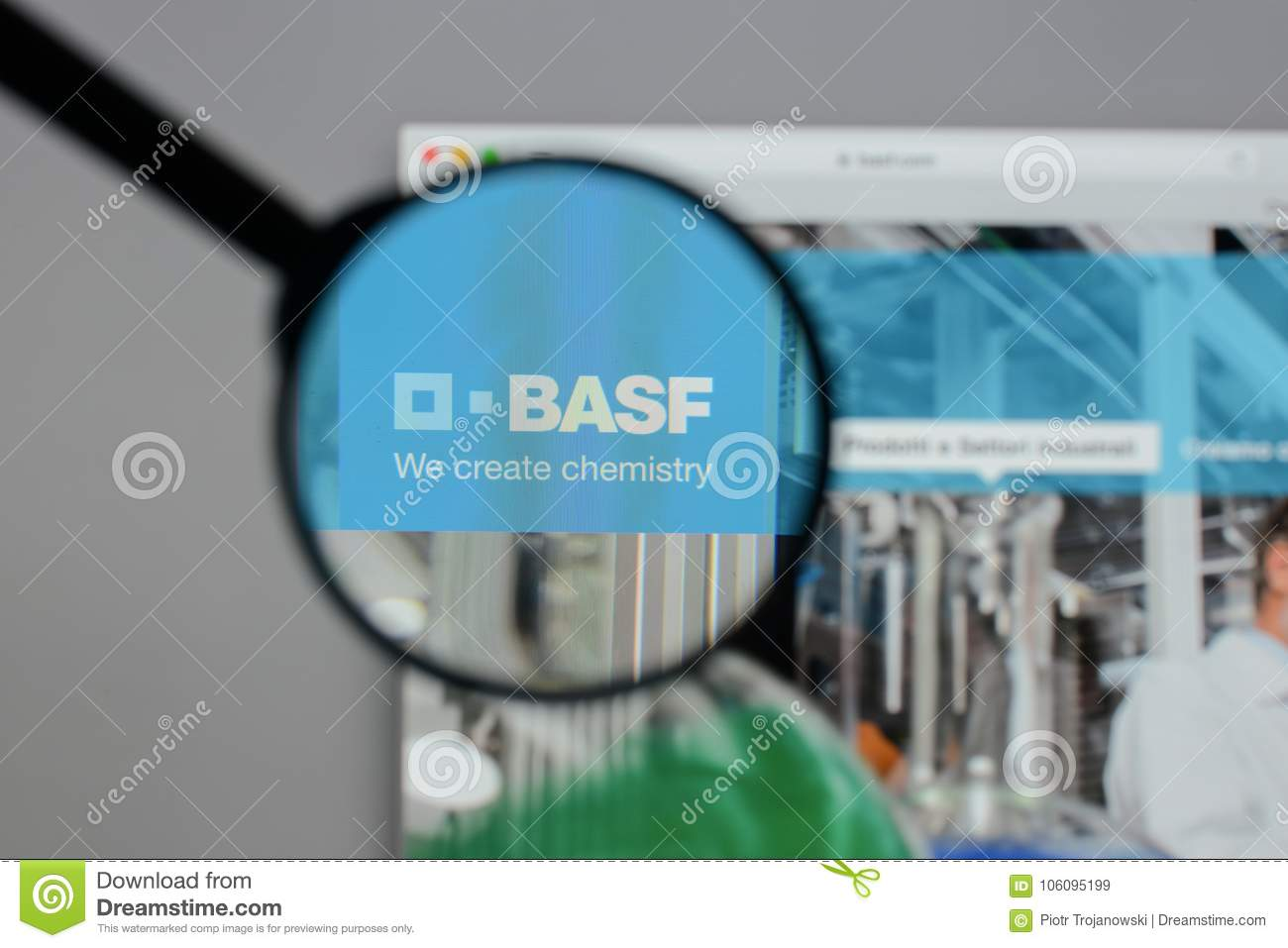 Milan Italy August 10 2017 Basf Logo On The Website Homepa