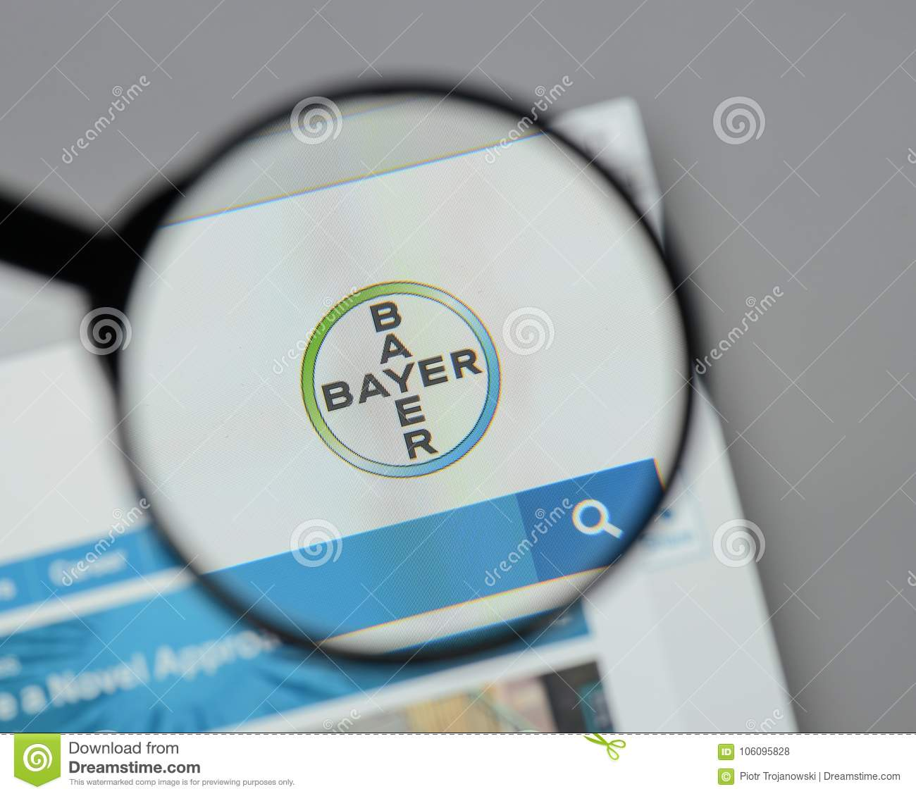 Milan Italy August 10 2017 Bayer Logo On The Website Homep