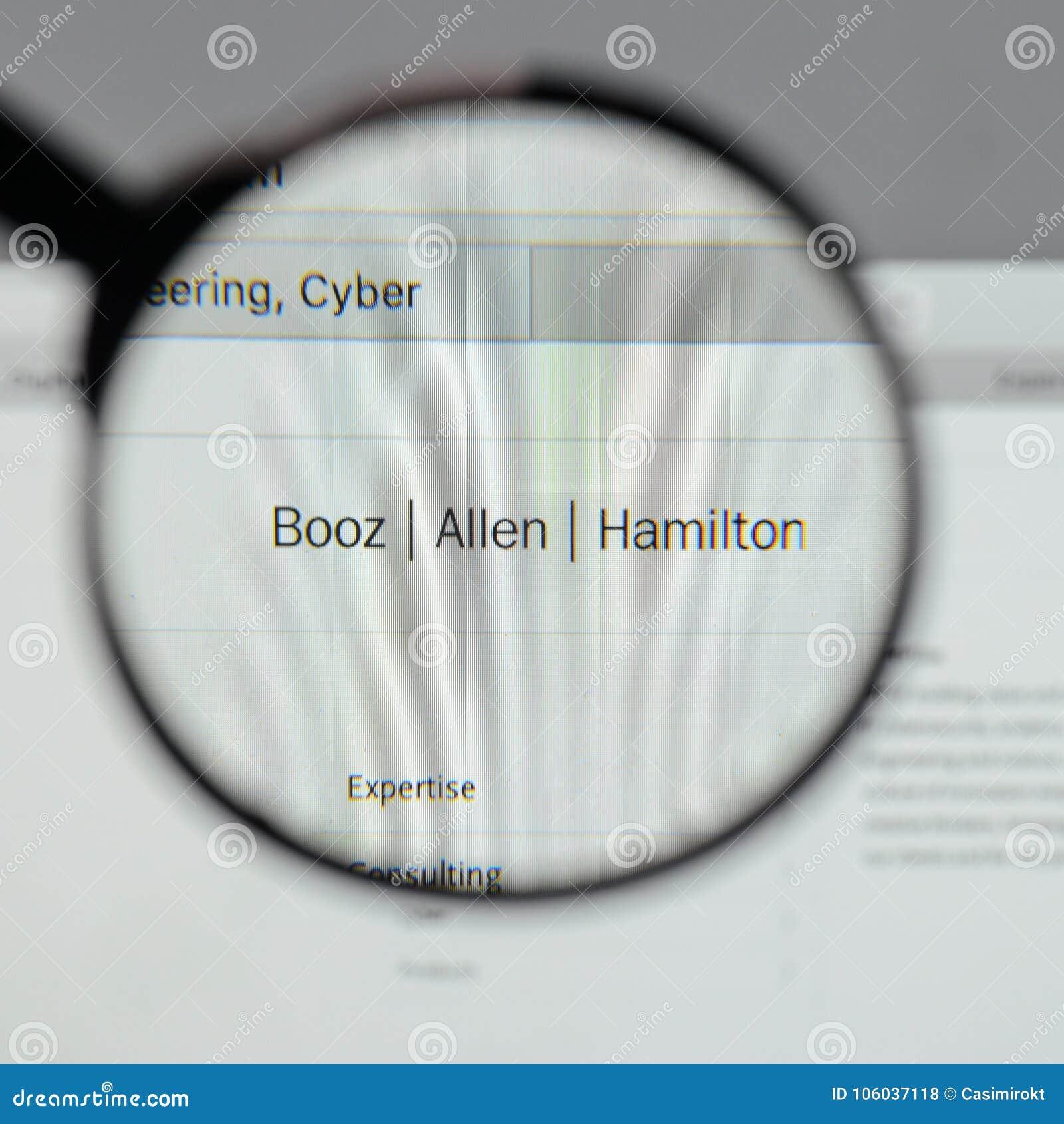 Milan Italy August 10 2017 Booz Allen Hamilton Holding Logo