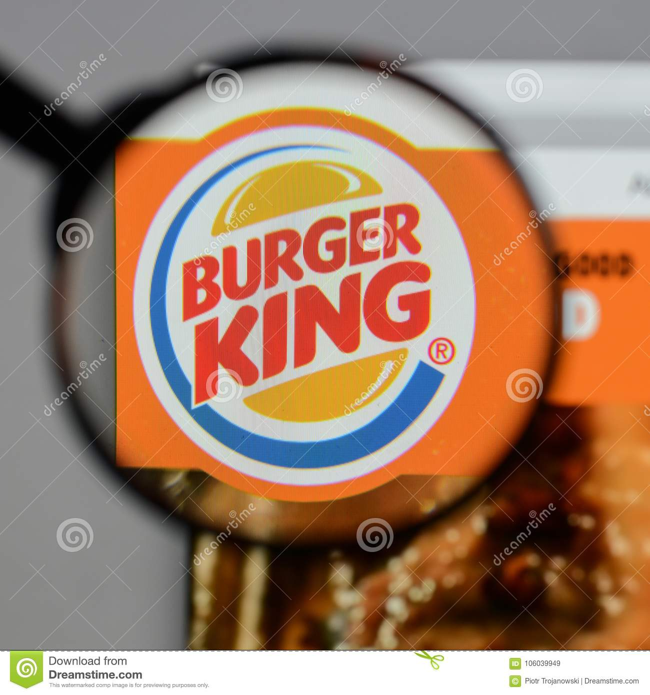Milan, Italy - August 10, 2017: Burger King Logo On The