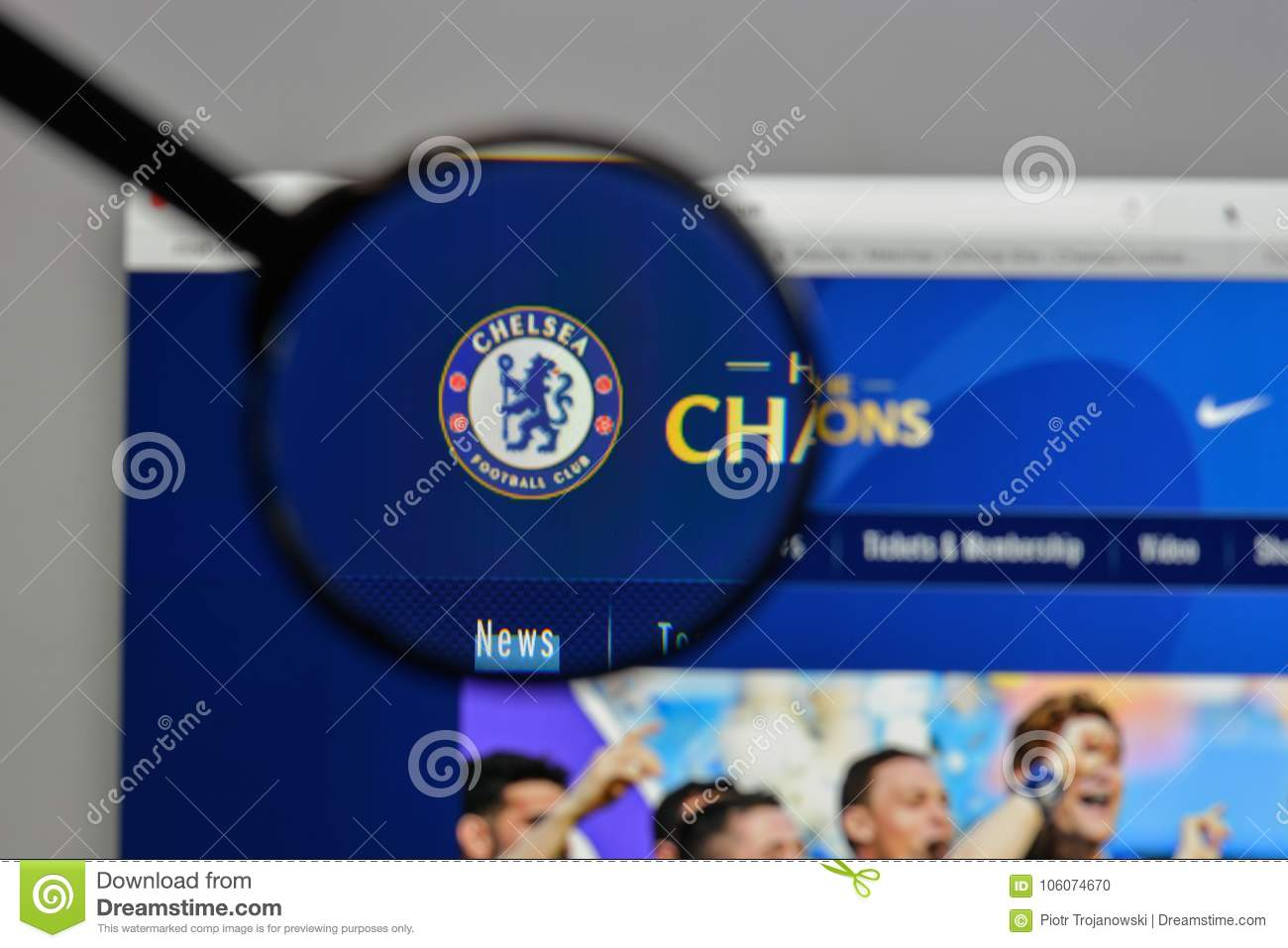 August 10, 2017: Chelsea FC Logo On The