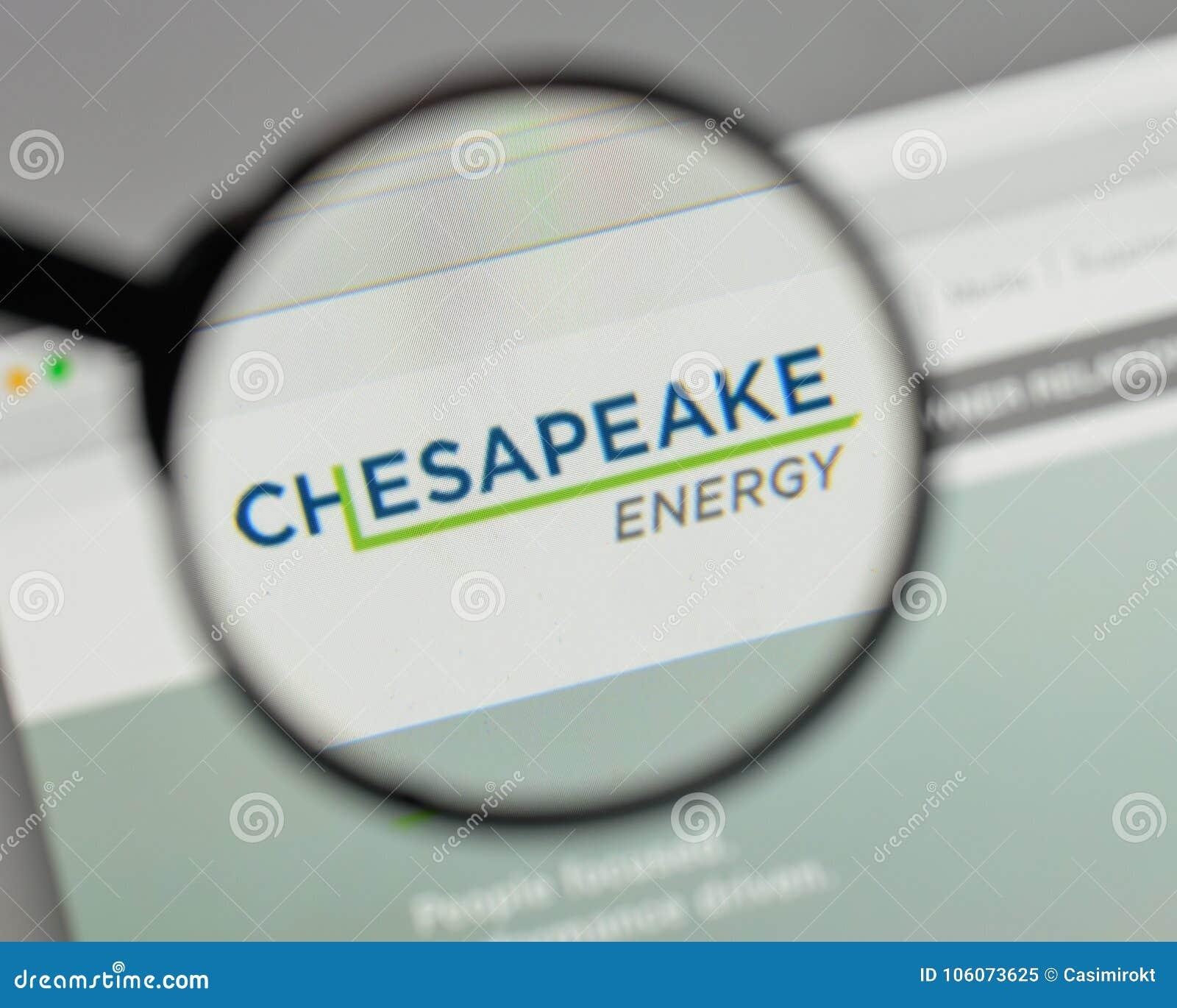 Milan Italy August 10 2017 Chesapeake Energy Logo On The We