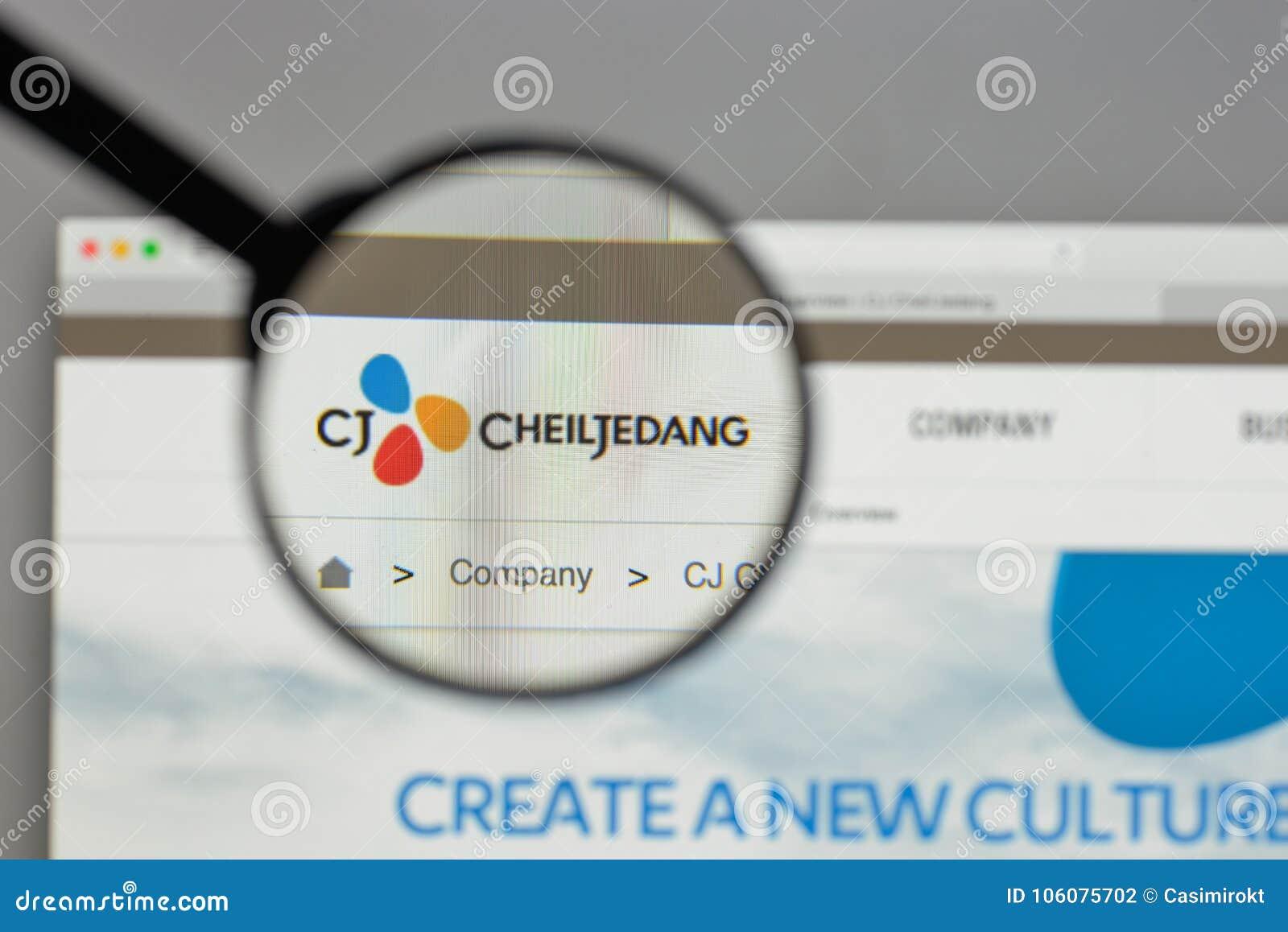 Milan, Italy - August 10, 2017: CJ Cheiljedang Logo On The