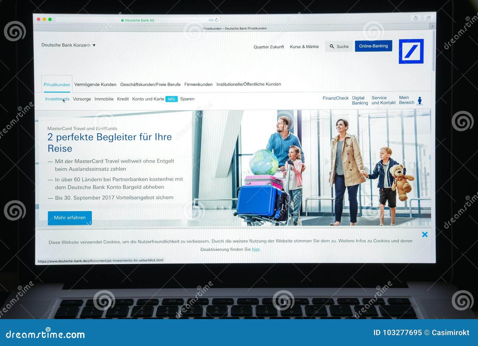 How to change address in deutsche bank germany online