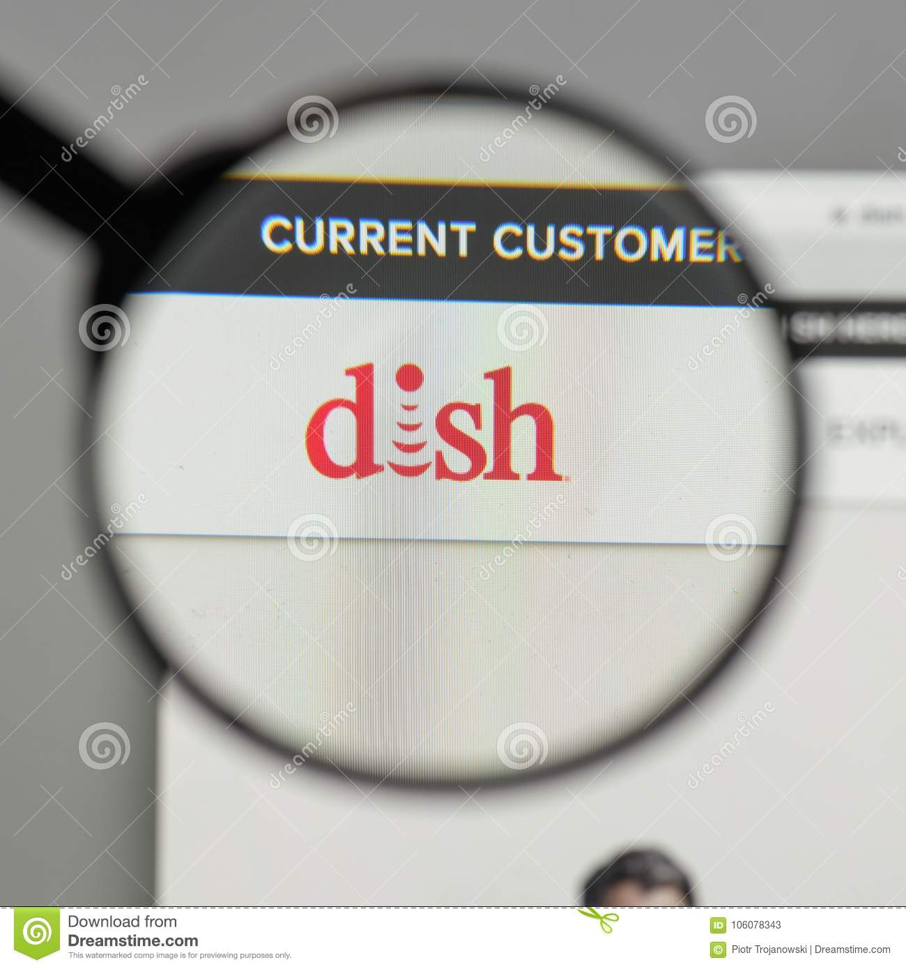 Milan Italy August 10 2017 Dish Network Logo On The Website