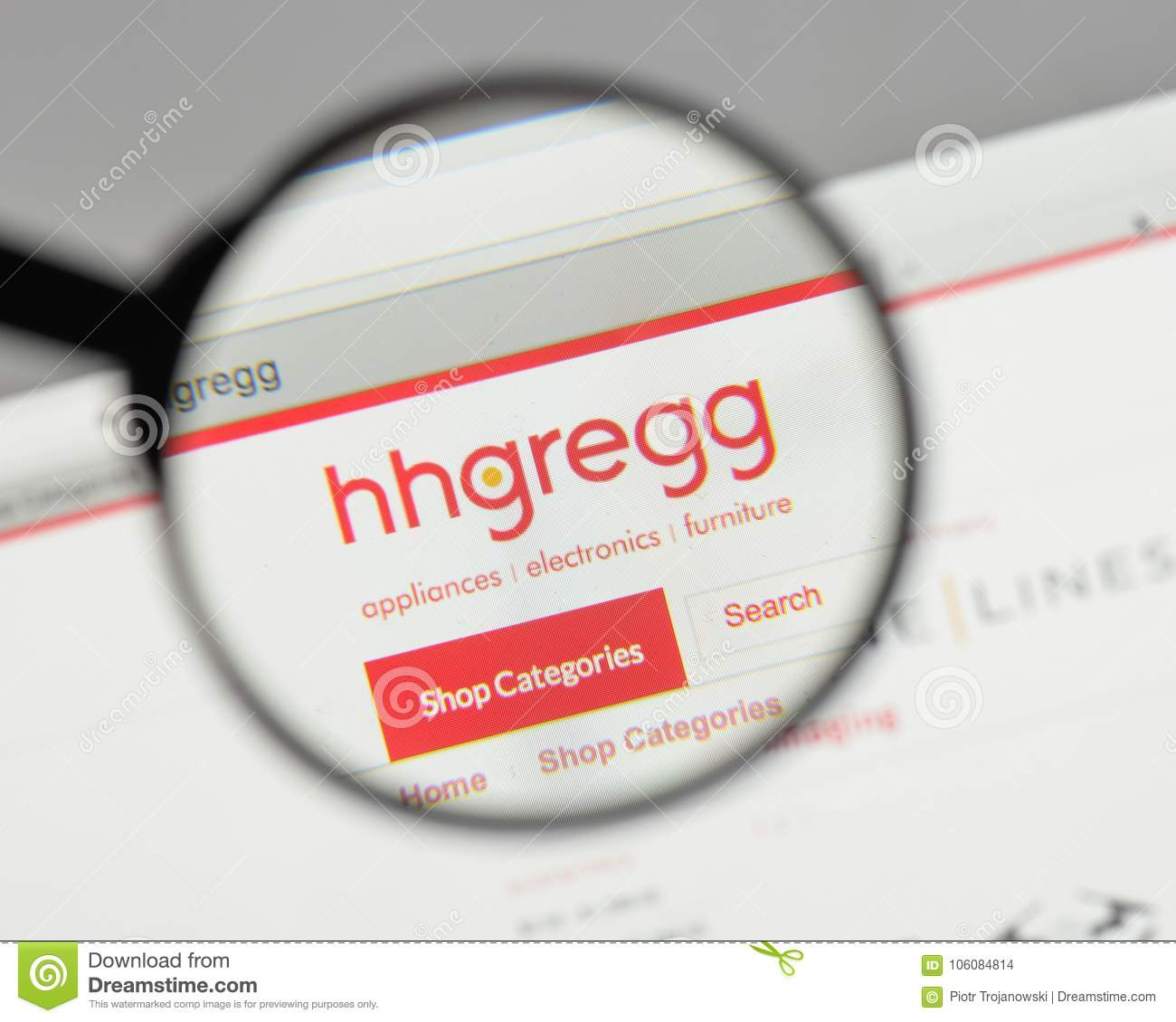 Milan Italy August 10 2017 Hhgregg Logo On The Website Home