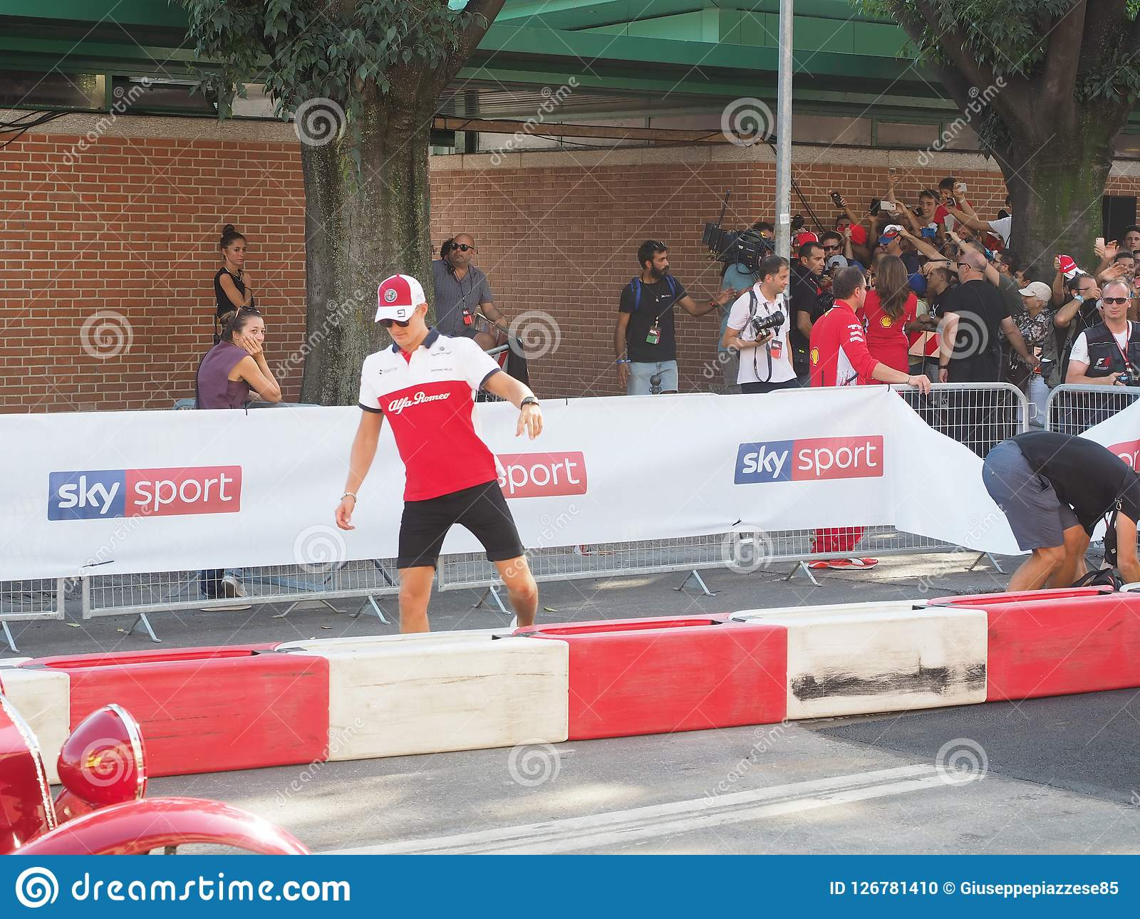 Milan, Italy - August 29, 2018: Marcus Ericsson entering the track