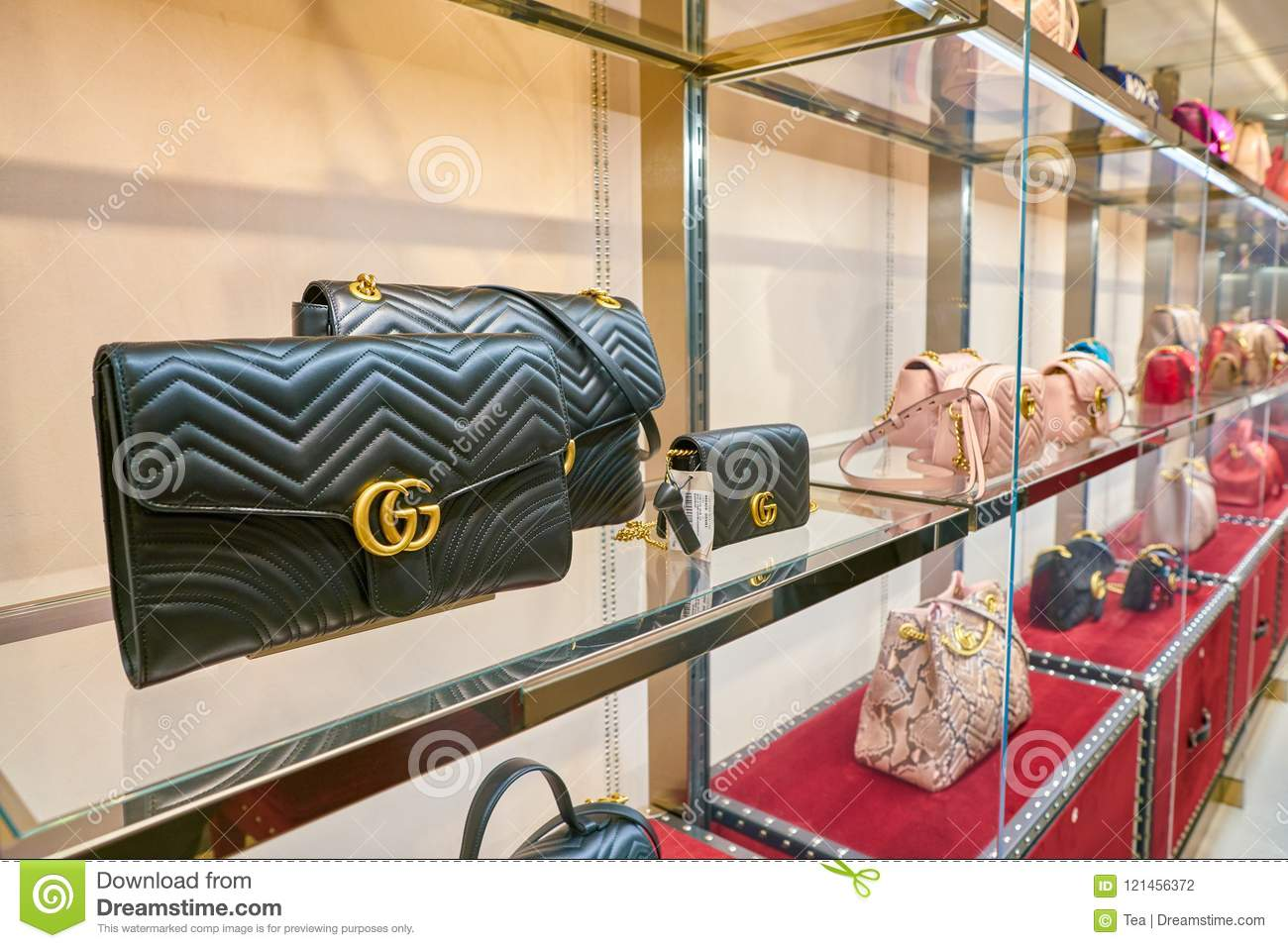Gucci editorial photography. Image of inside, outlet , 121456372