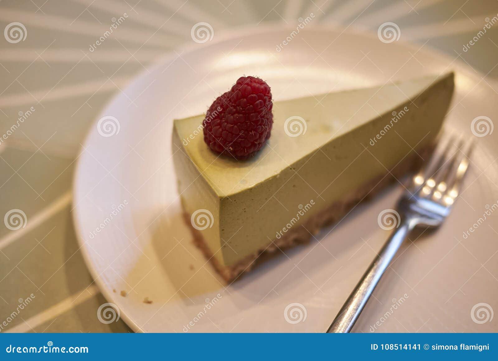 Macha cheese cake stock image  Image of lunch, macha - 108514141