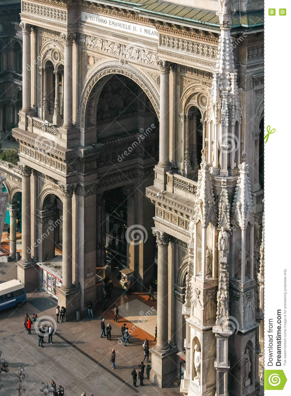MILAN, ITALY/EUROPE - FEBRUARY 23 : View from Duomo towards the