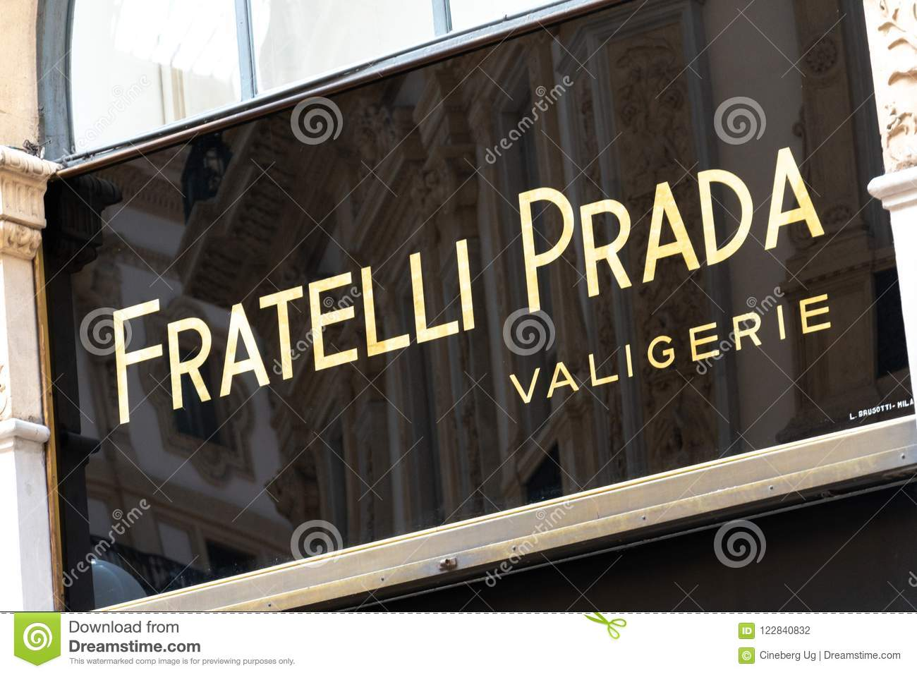 brand new 3ed6f 4e7ef Fratelli Prada store editorial photography. Image of milan ...