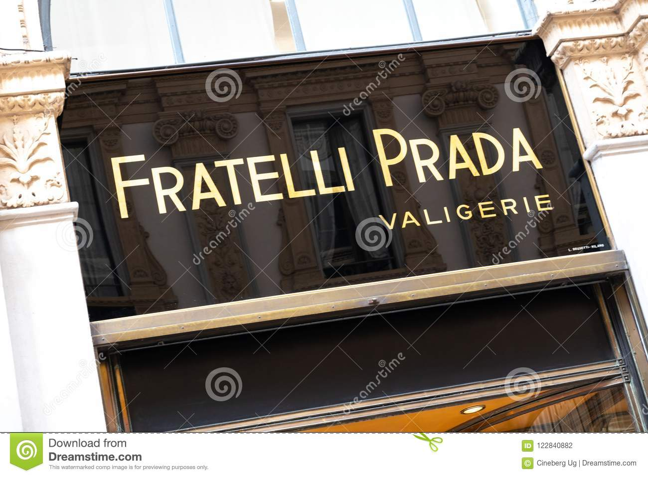 newest collection f6432 e1e1c Fratelli Prada store editorial photography. Image of center ...