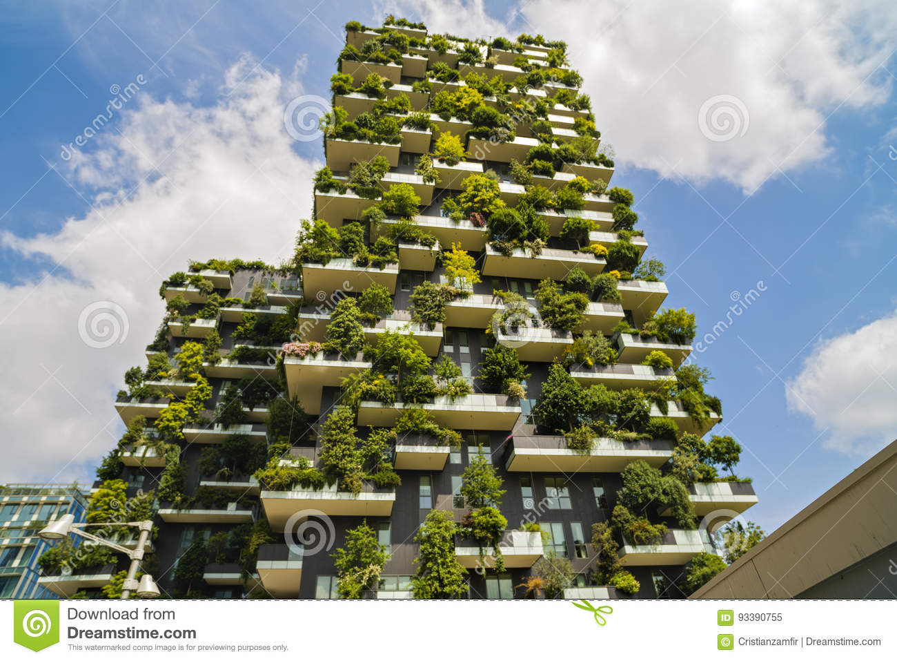 milan italy may 28 2017 bosco verticale vertical forest l editorial image image 93390755. Black Bedroom Furniture Sets. Home Design Ideas