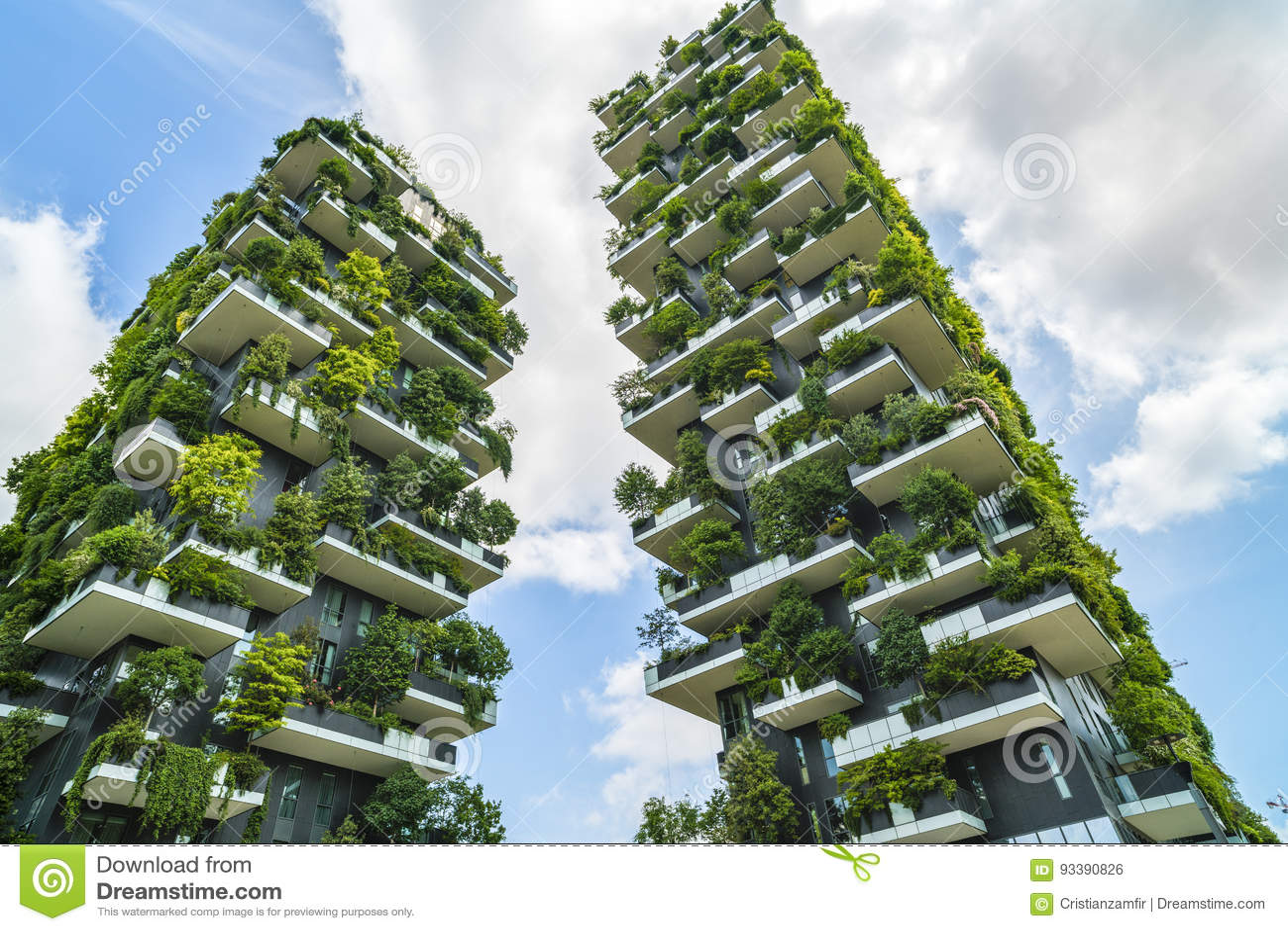 Milan Italy May 28 2017 Bosco Verticale Vertical