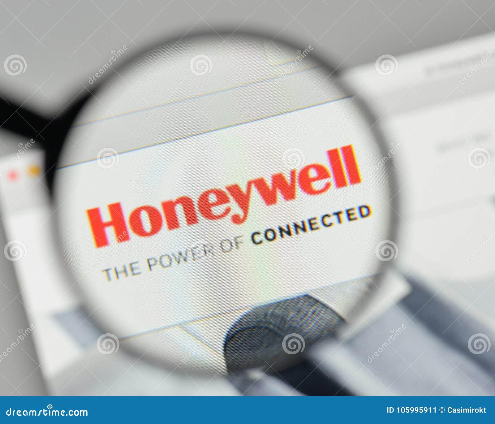 Milan, Italy - November 1, 2017: Honeywell Logo On The