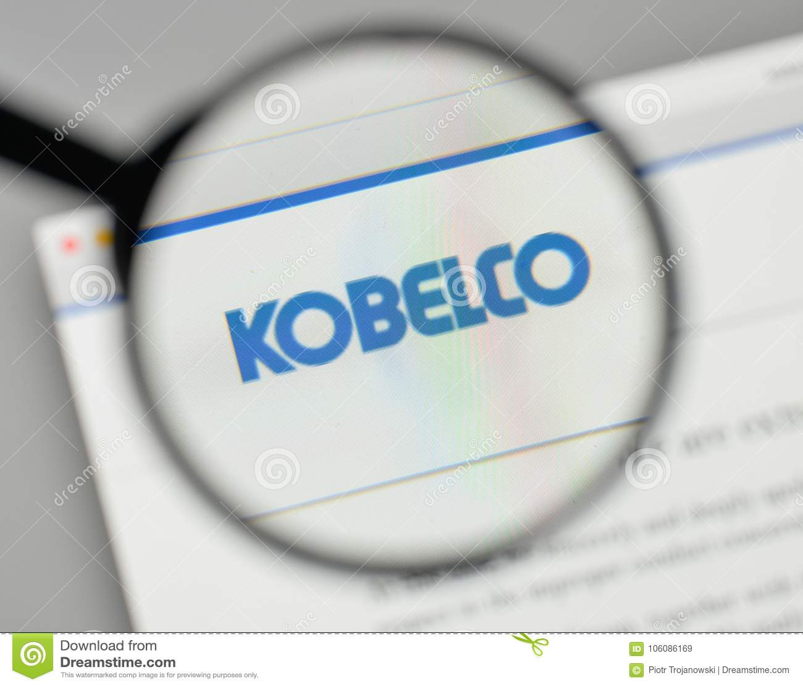 Milan, Italy - November 1, 2017: Kobe Steel Kobelco Japan