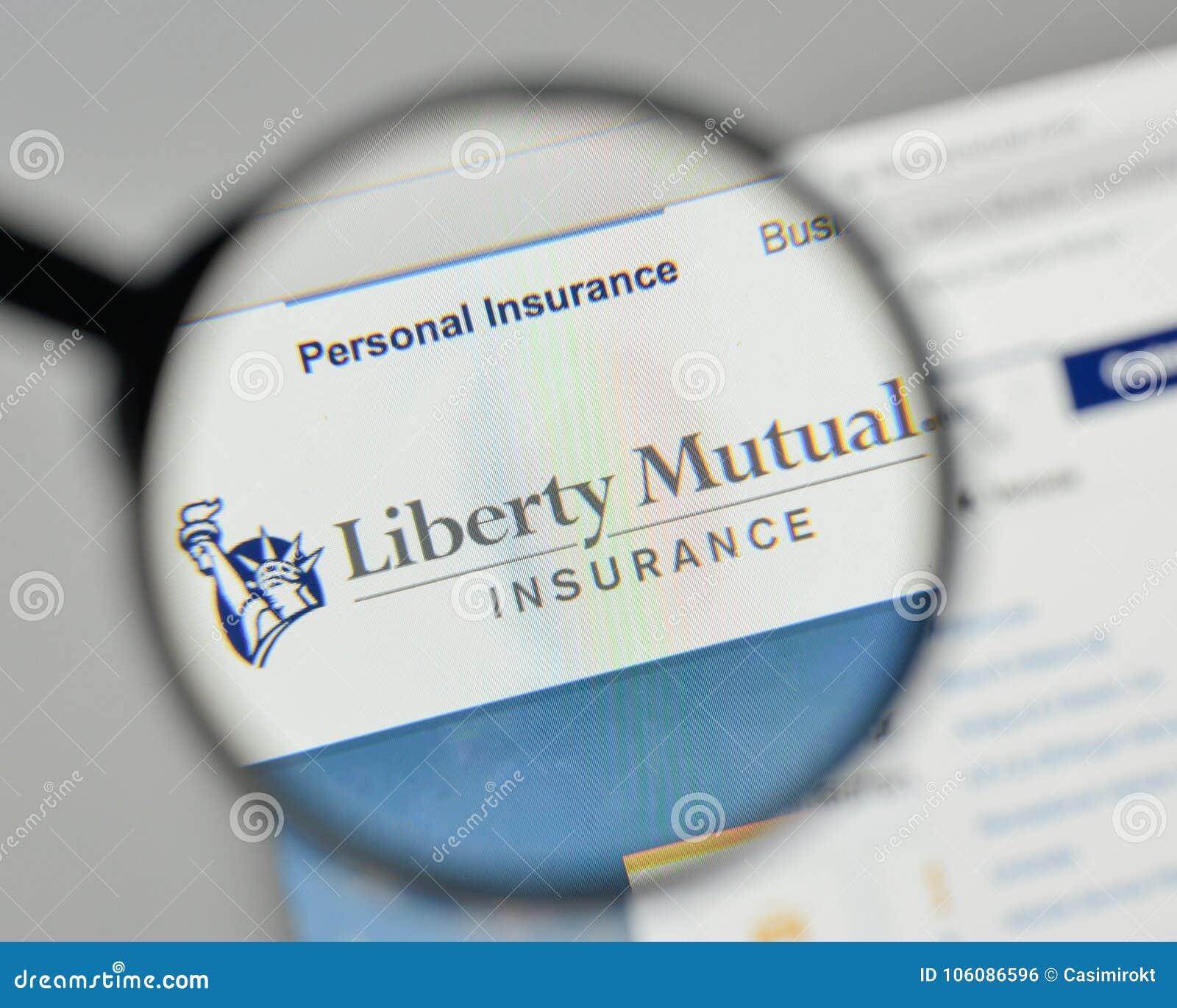 Milan, Italy - November 1, 2017: Liberty Mutual Insurance ...