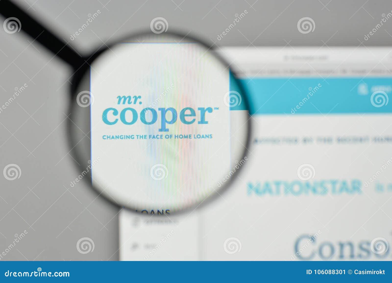 Milan, Italy - November 1, 2017: Mr Cooper - Nationstar Mortgage