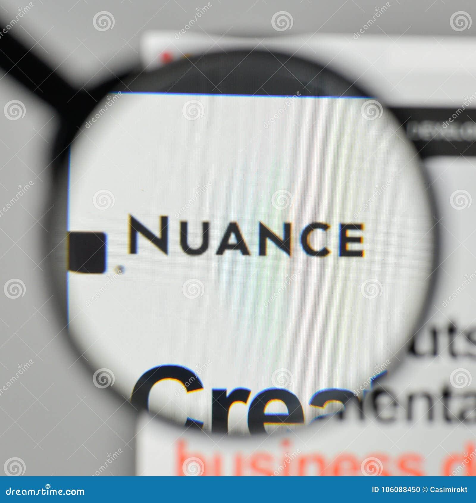 Milan, Italy - November 1, 2017: Nuance Communications Logo