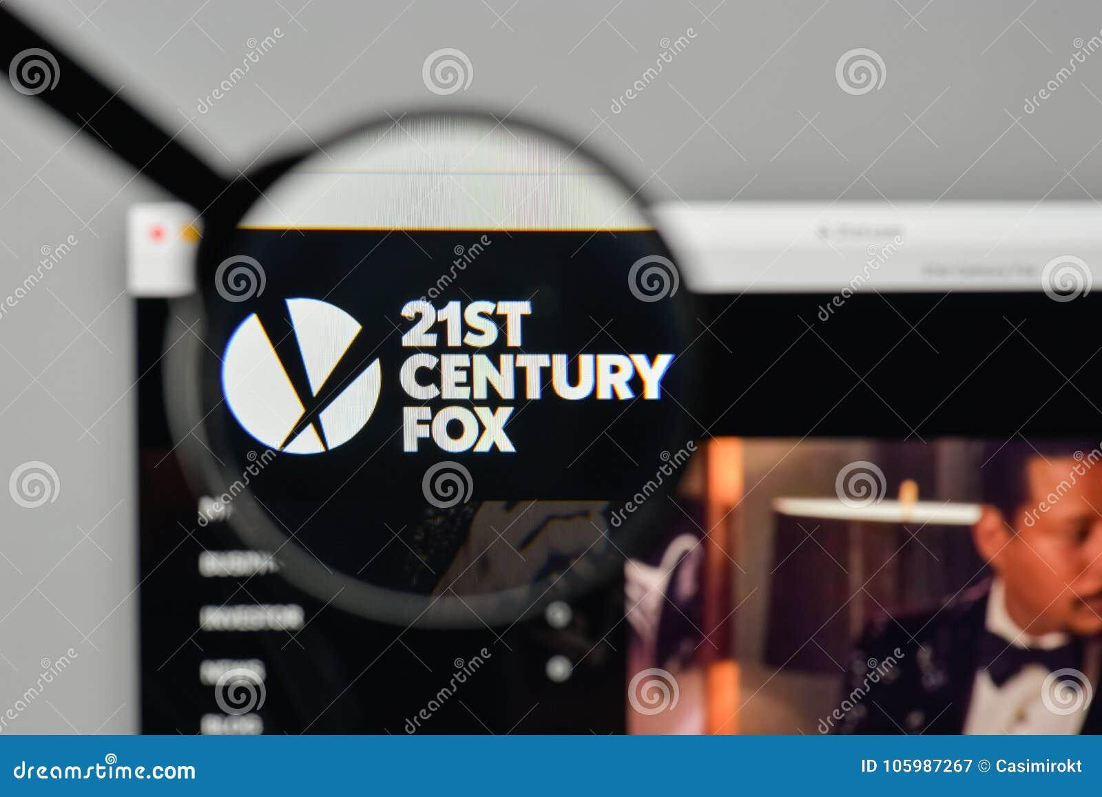 Milan, Italy - November 1, 2017: 21st Century Fox Logo On