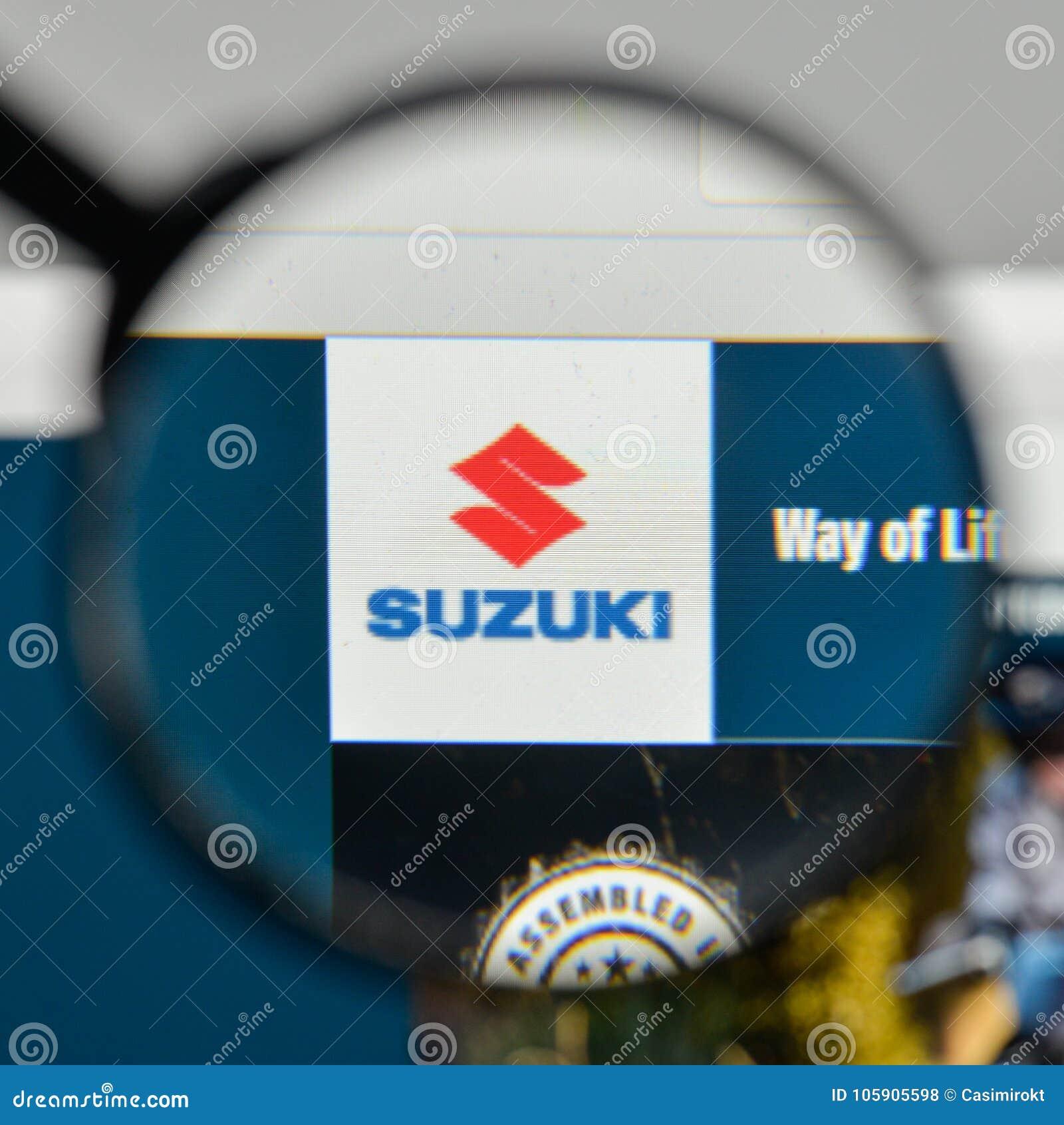 Milan, Italy - November 1, 2017: Suzuki Logo On The Website
