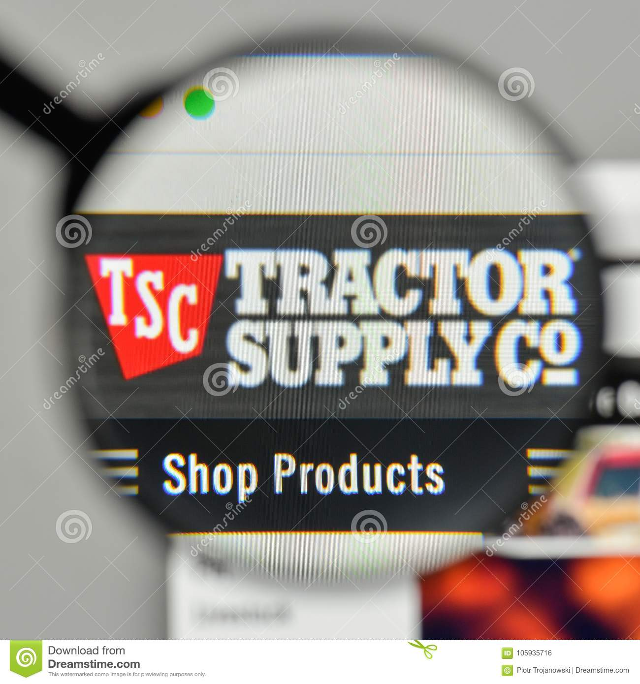 Milan italy november 1 2017 tractor supply logo on the webs milan italy november 1 2017 tractor supply logo on the webs emblem site editorial stock photo buycottarizona Gallery