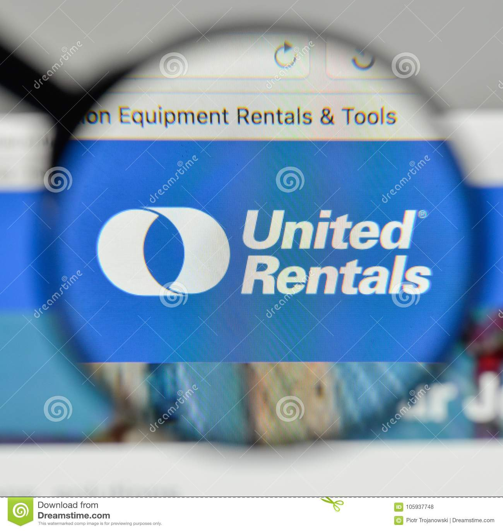 Milan, Italy - November 1, 2017: United Rentals Logo On The