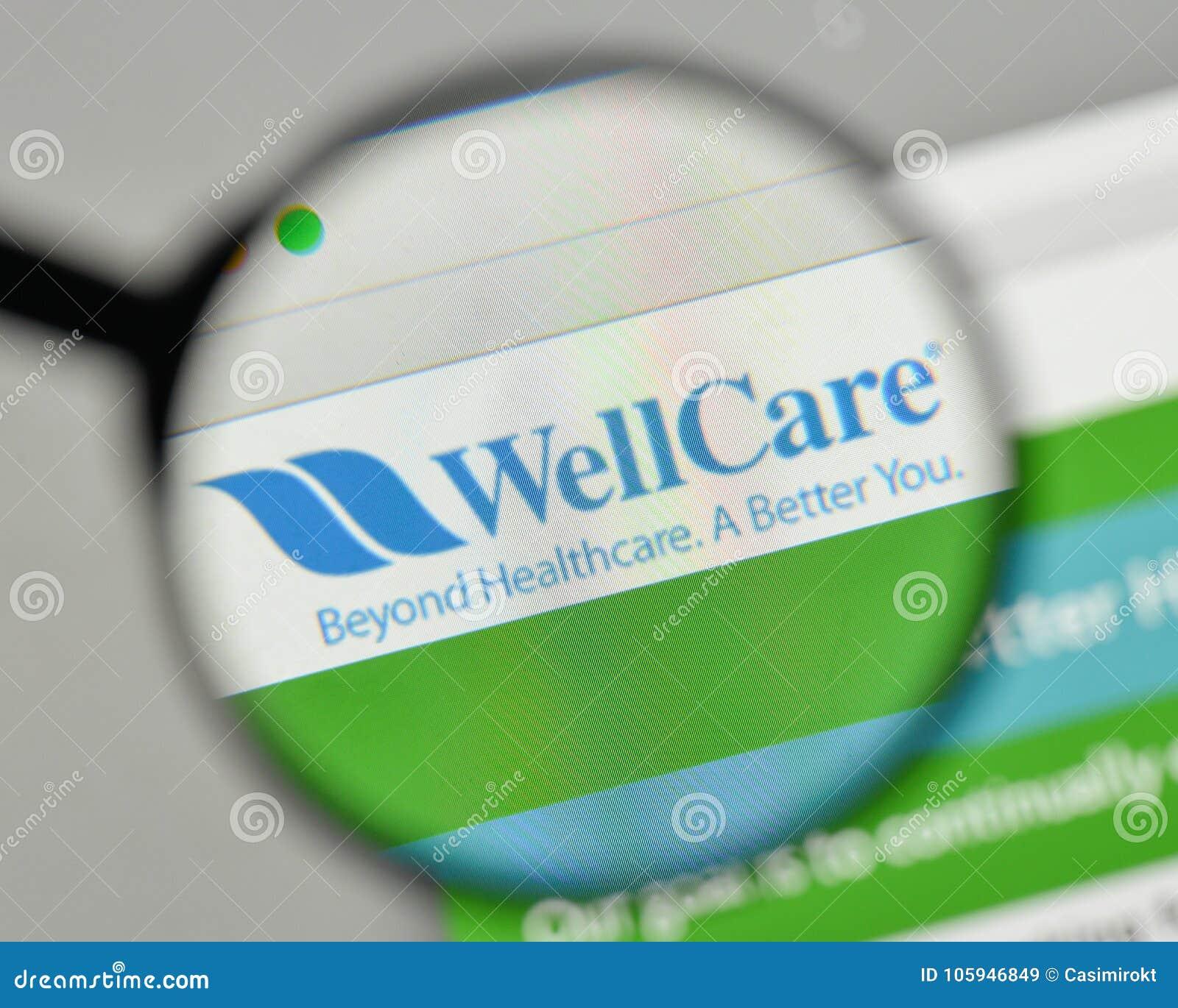 Milan Italy November 1 2017 Wellcare Health Plans Logo On T