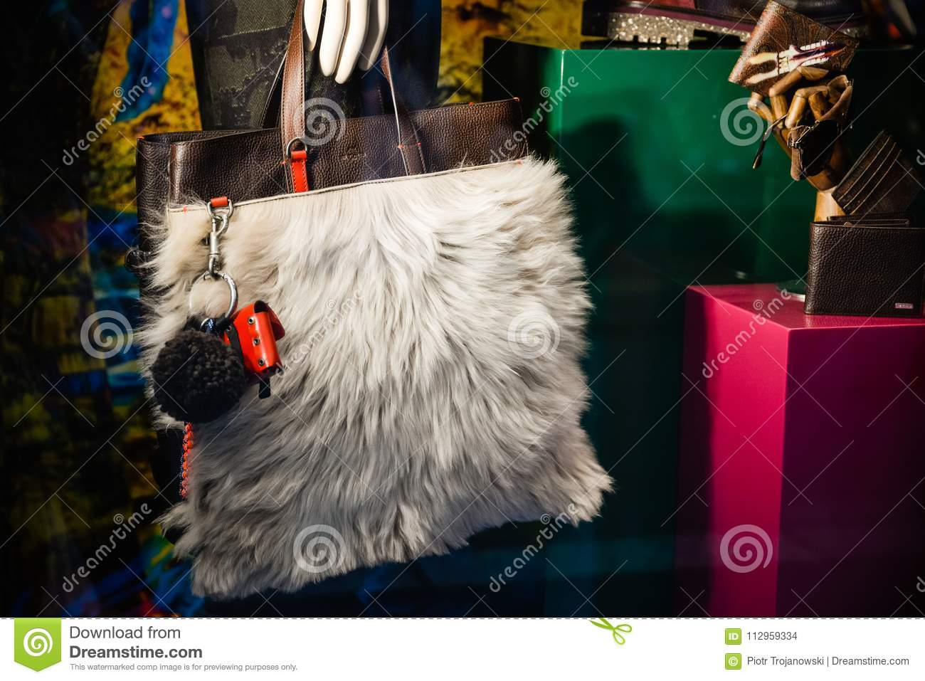best website 559bb ad56e Milan, Italy - September 24, 2017: Etro Bags In A Store In ...