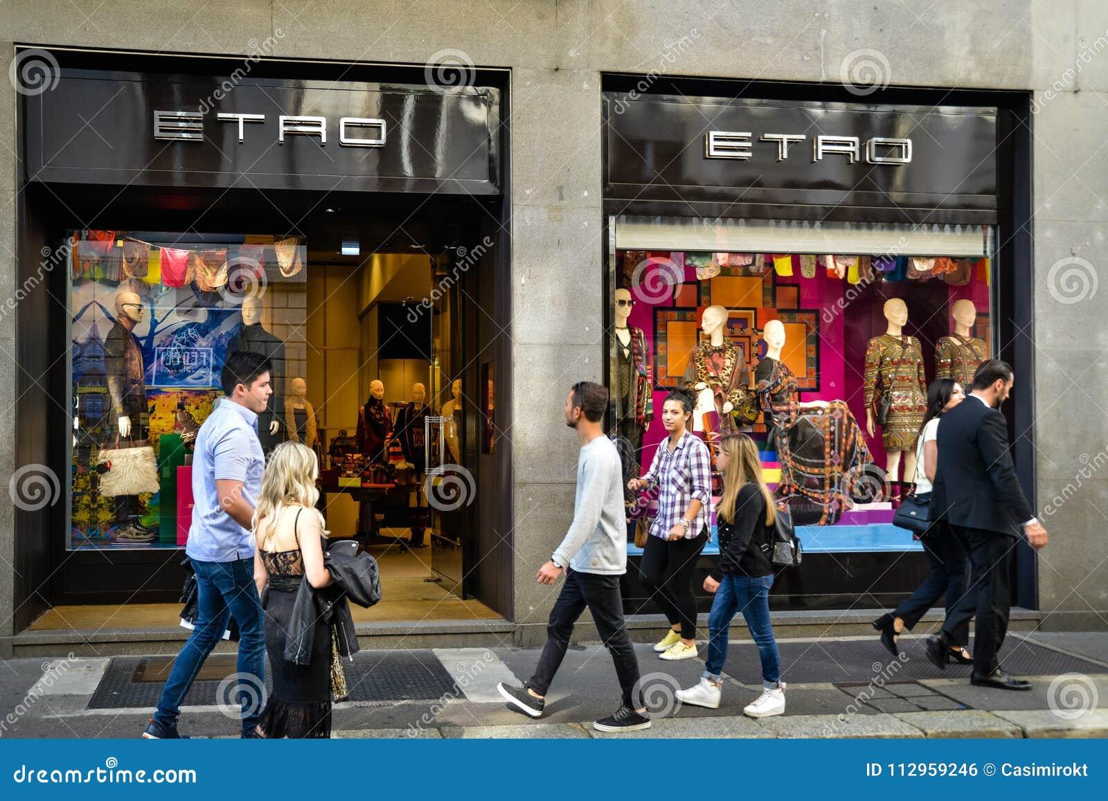finest selection e1350 ce8b5 Milan, Italy - September 24, 2017: Etro Store In Milan ...