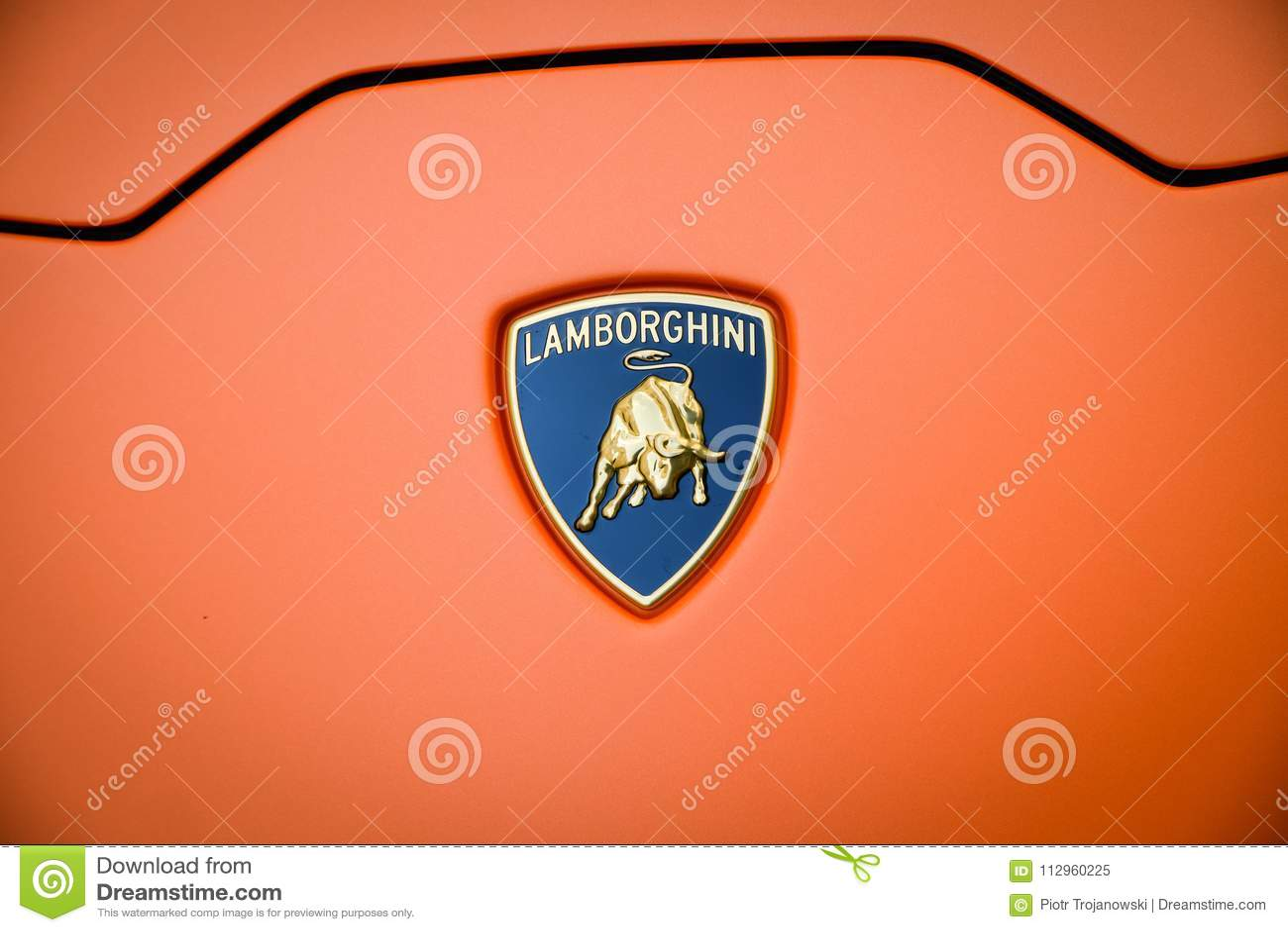 Milan Italy September 24 2017 Lamborghini Car In Montenapo