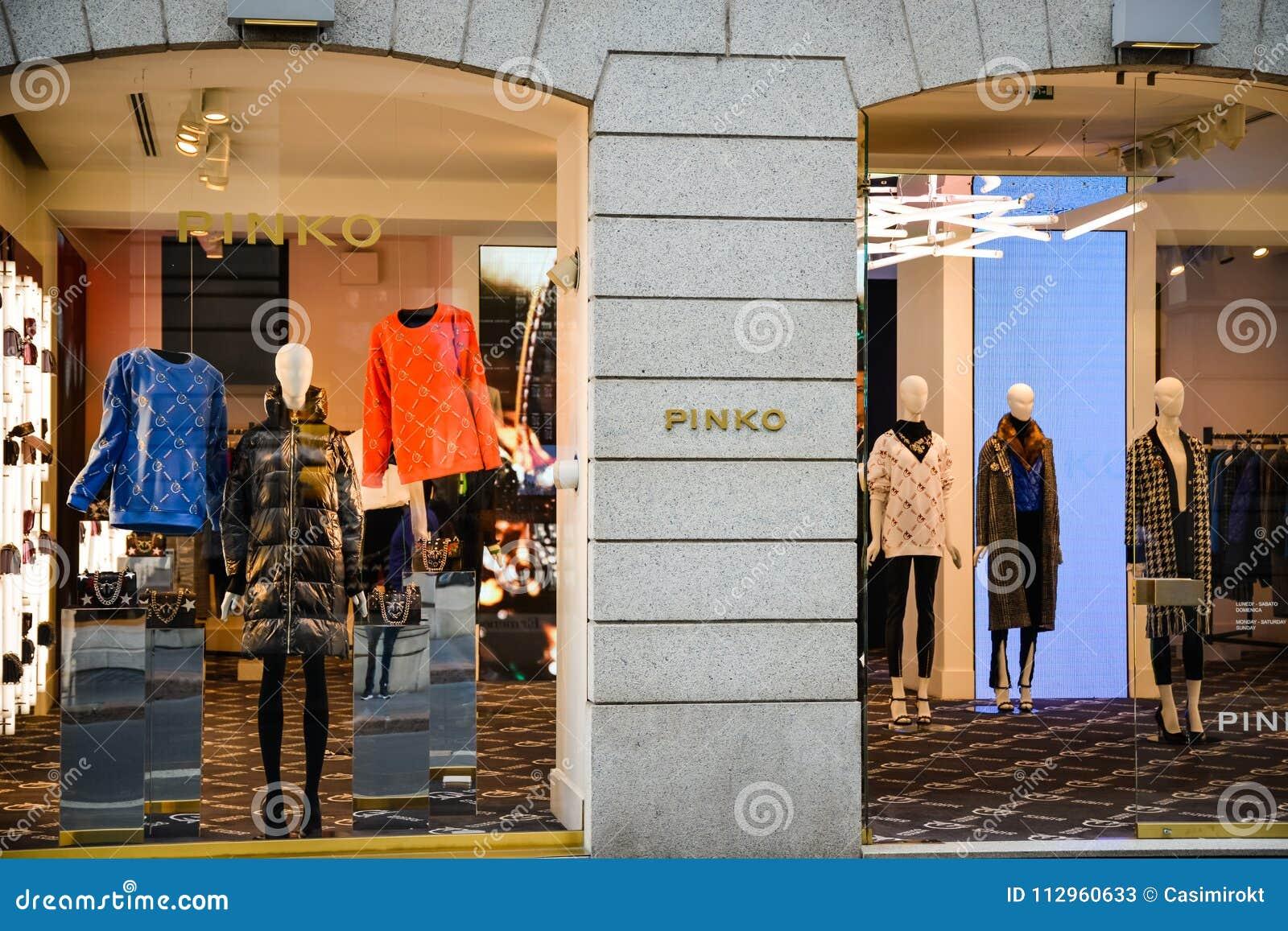 official photos 6d12f 402a8 Milan, Italy - September 24, 2017: Pinko Store In Milan ...