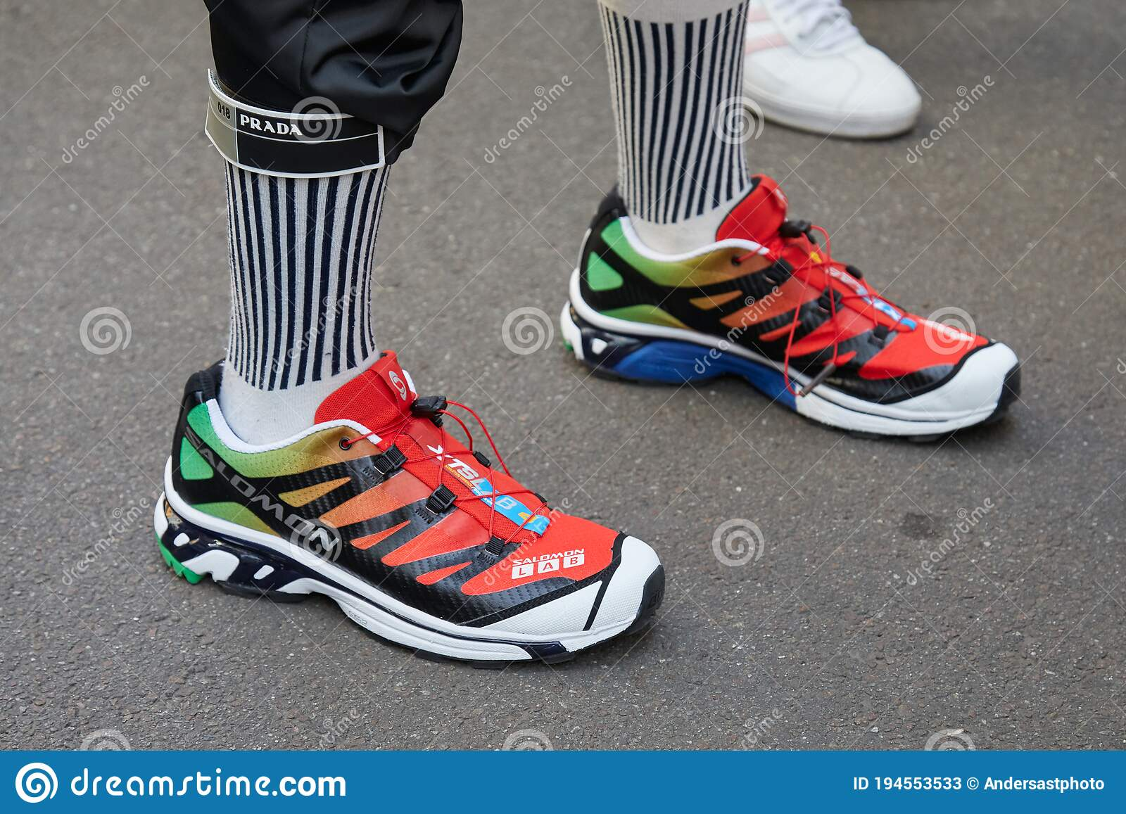 Salomon Lab Red, Green And White Shoes