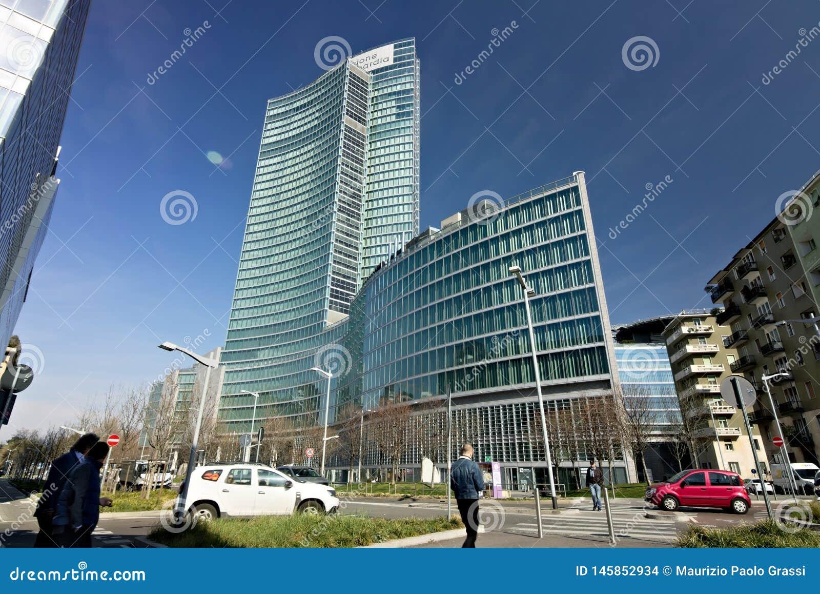 Milan l Italie 21 mars 2019 Si?ges sociaux de construction du Lombar