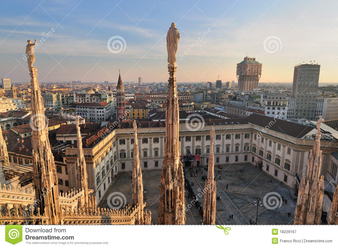 Milan Landscape From The Duomo Stock Image Image 18229167