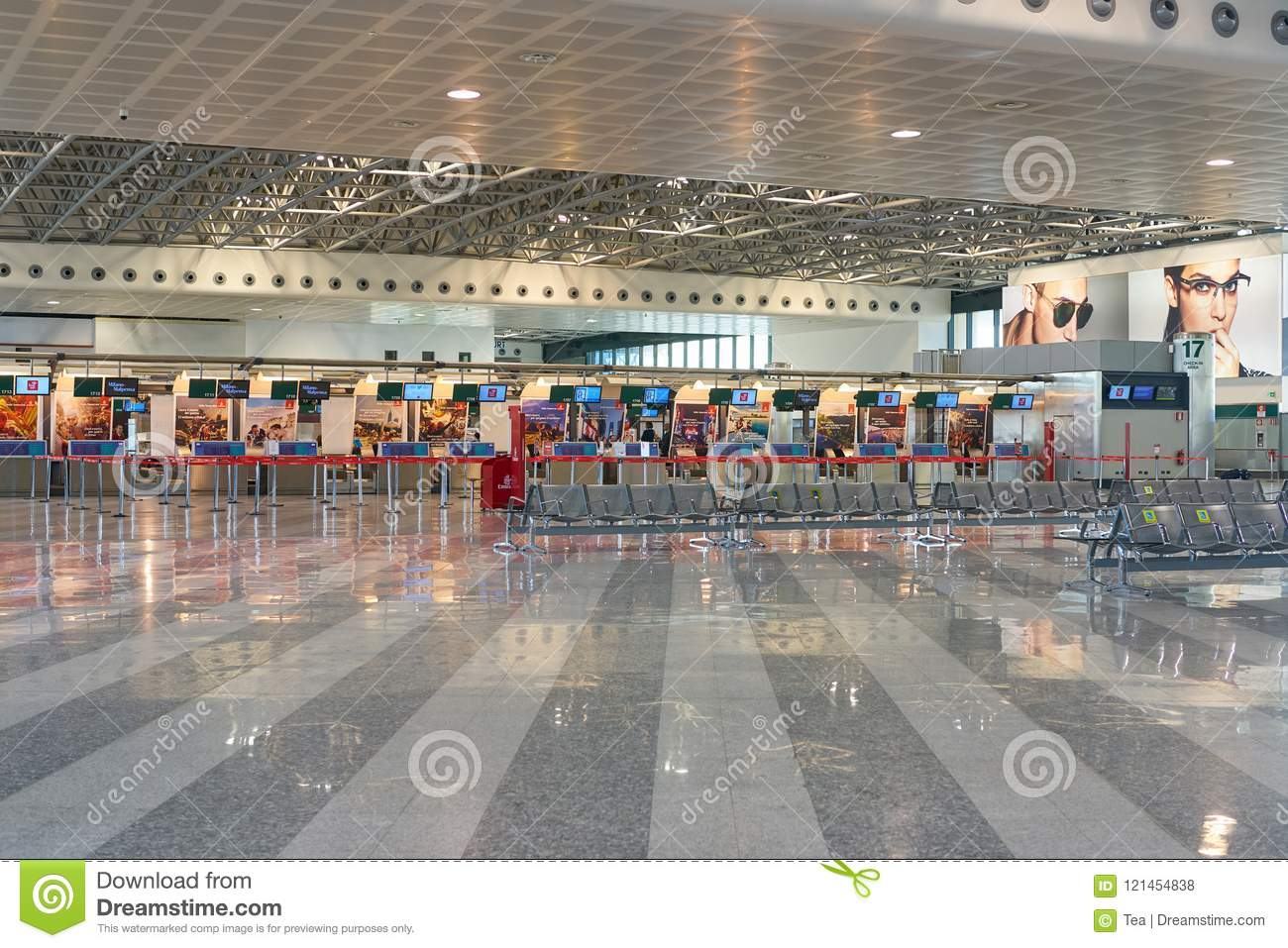 Milan Malpensa Airport Editorial Stock Photo Image Of Departure 121454838