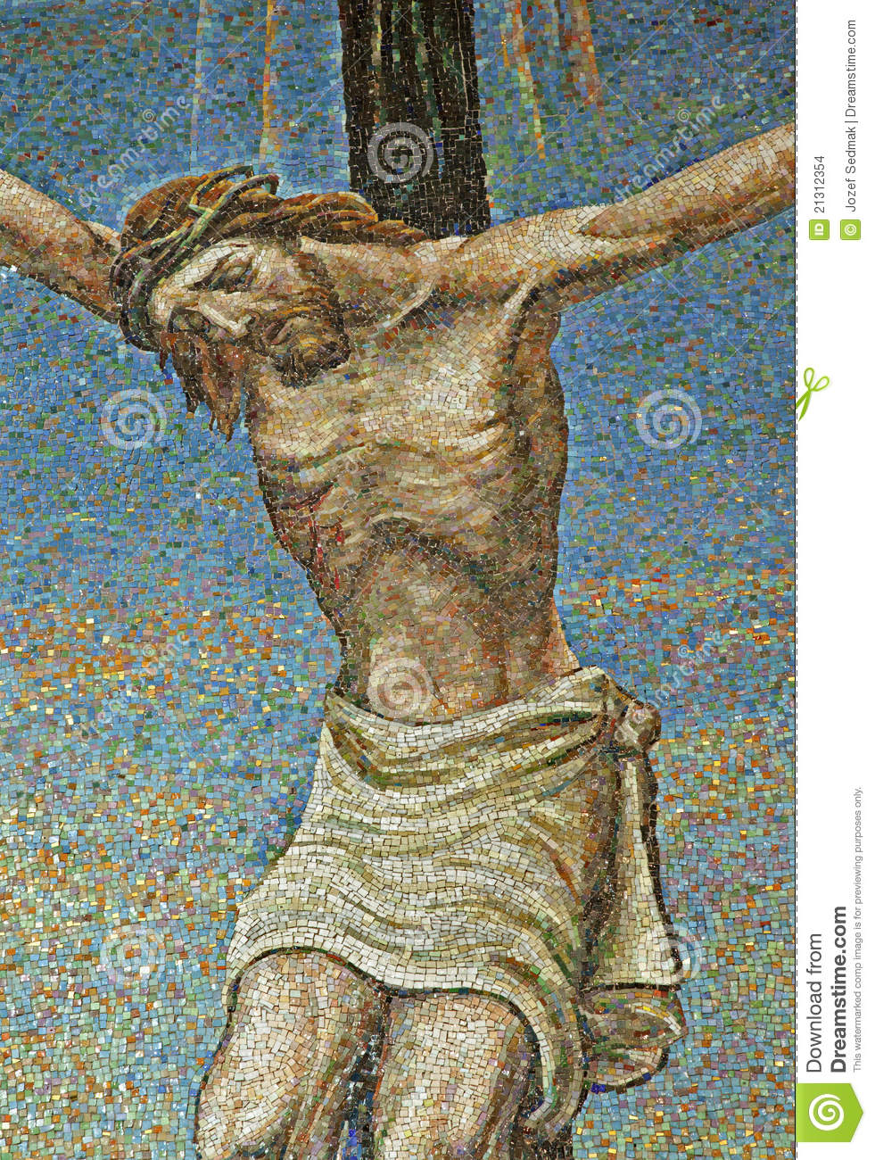 Milan - Mosaic - Jesus On The Cross Stock Images - Image: 21312354
