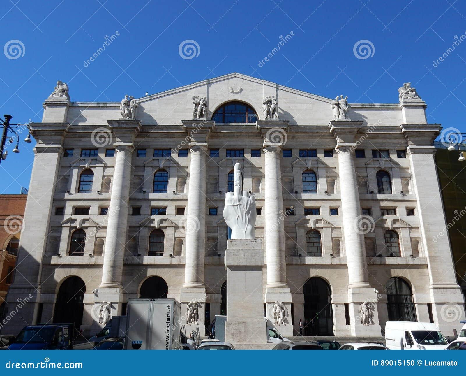 Milan - Piazza Affari - Italian Stock Exchange Editorial ...