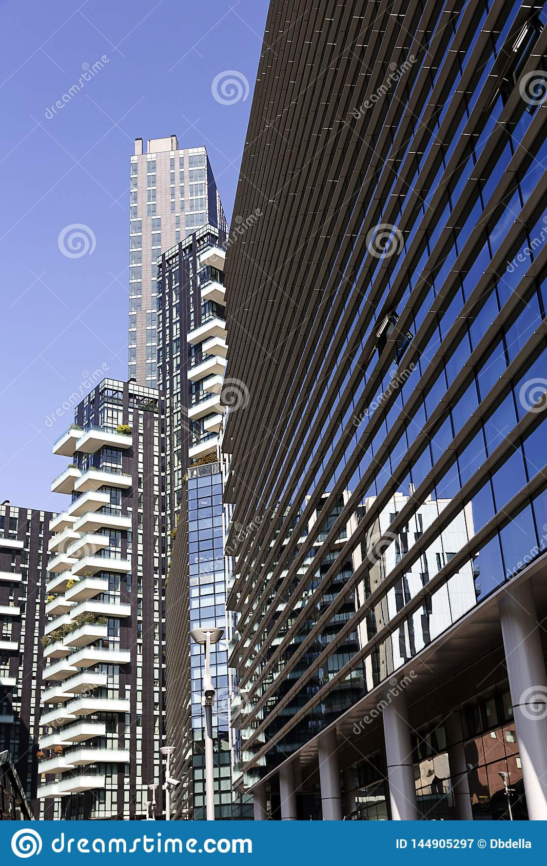 Milan - Residential building in Porta Nuova district one of the main business districts of Milan, Lombardy Italy